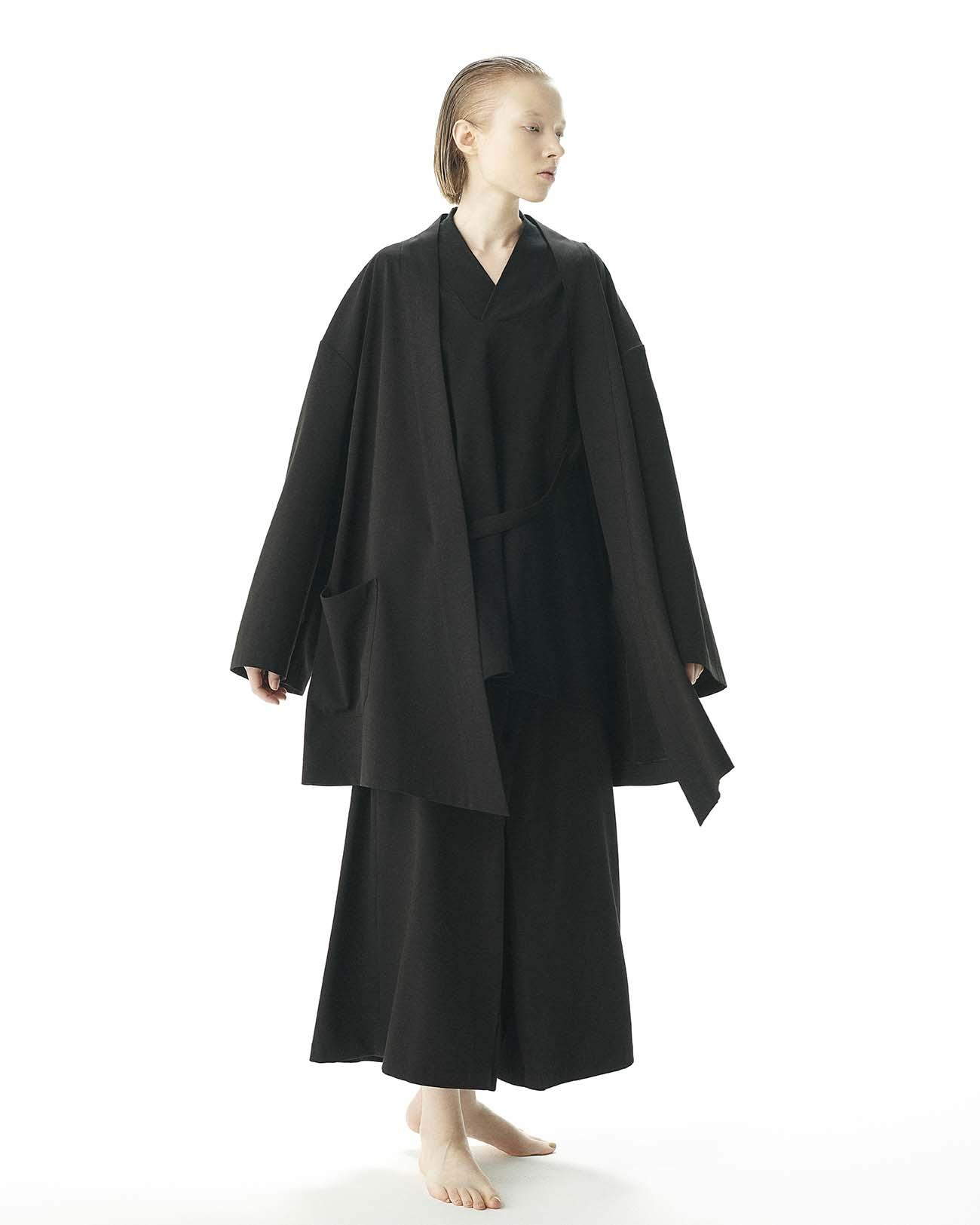 人造丝混纺和风袴宽裤