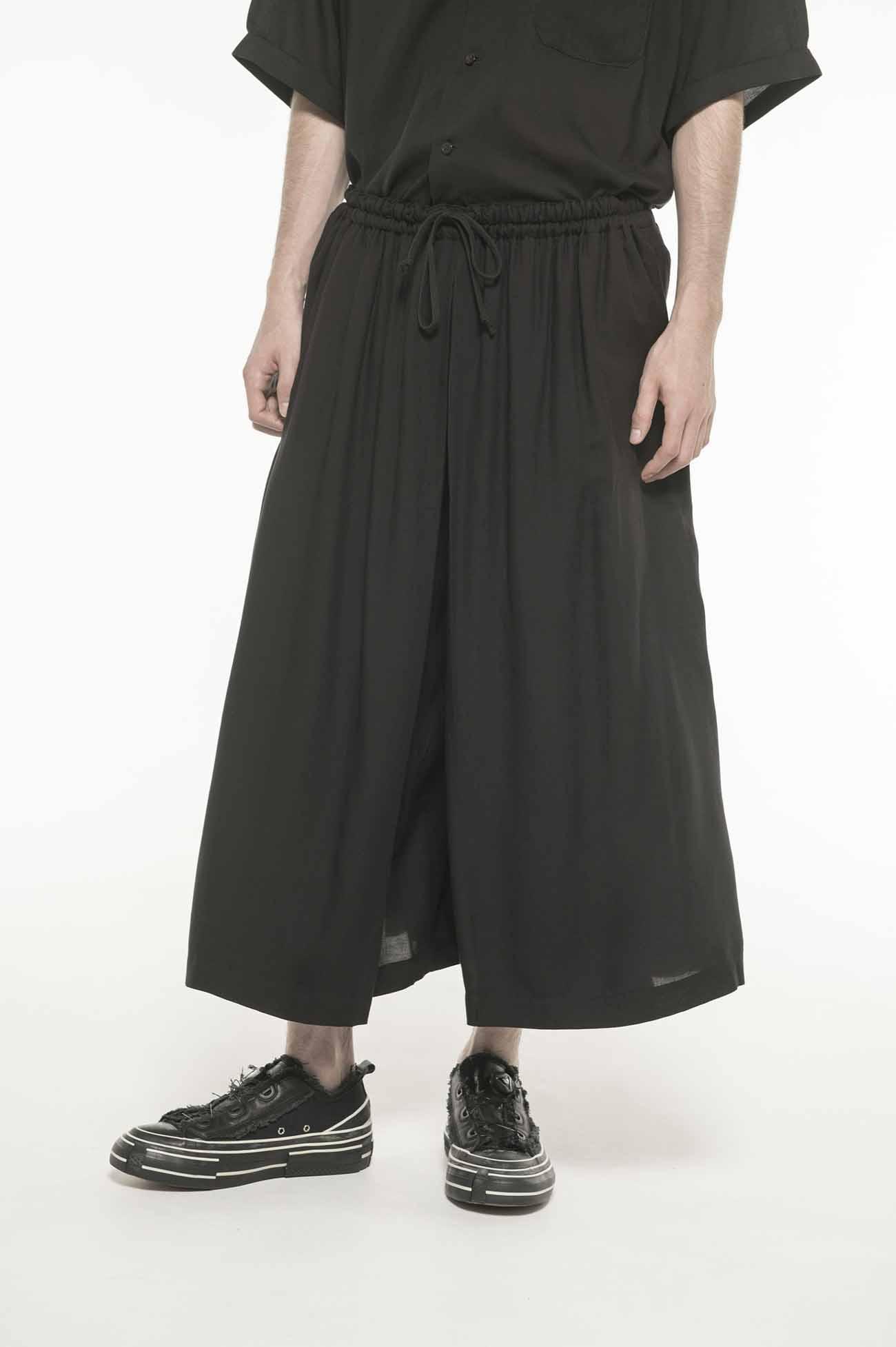 Tencel Viyella Left Layer Cropped Pants