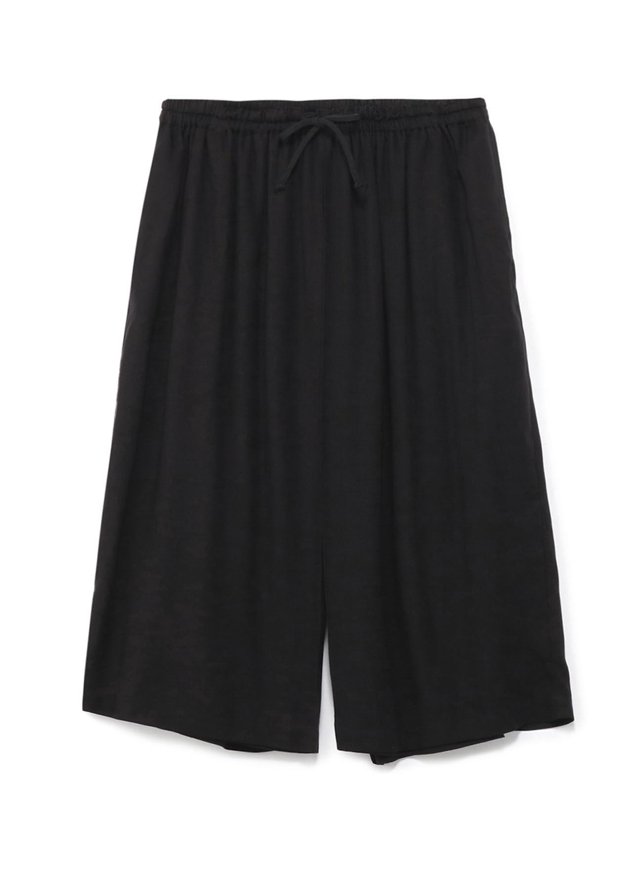 后身卷裹层叠七分裤