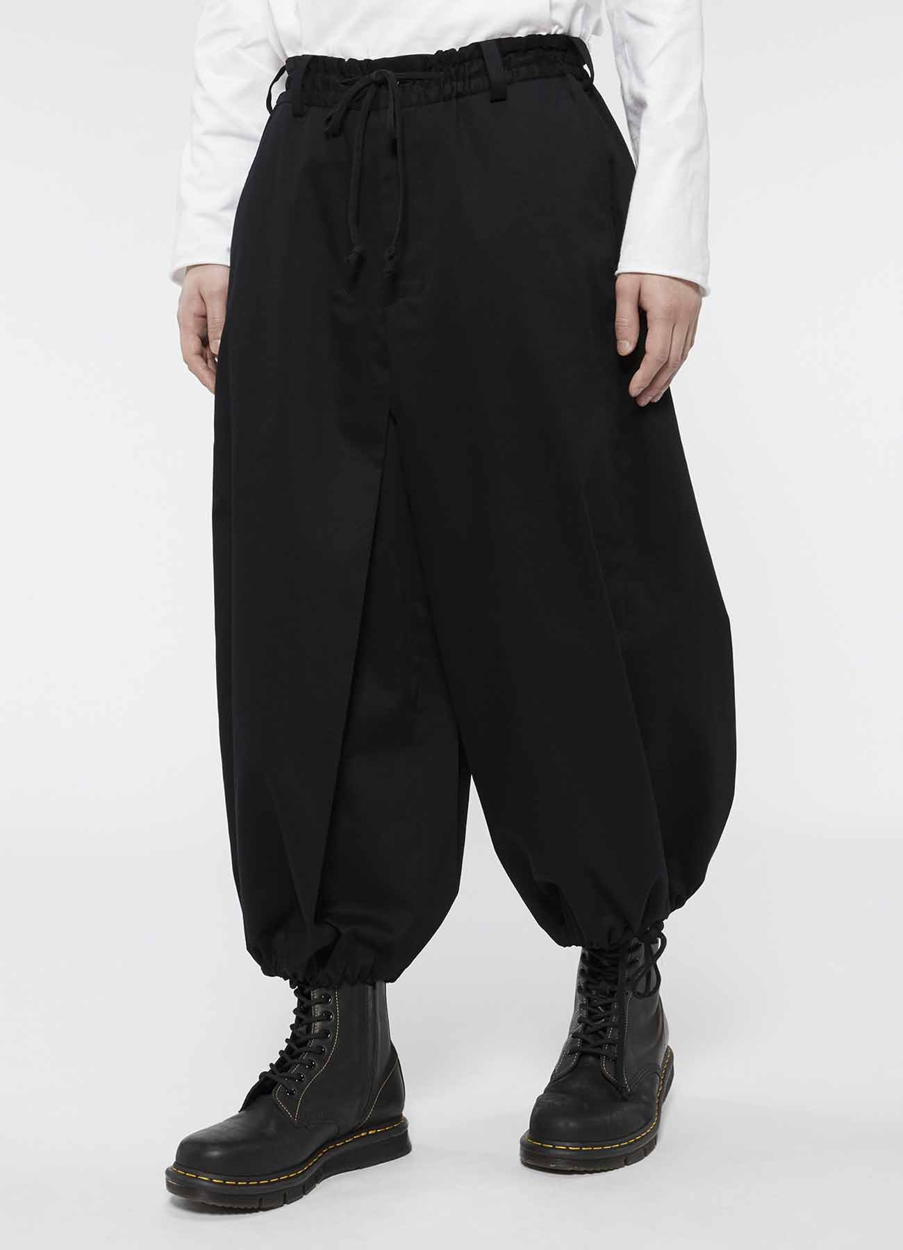 20/Cotton Twill Washer Hakama Balloon Pants