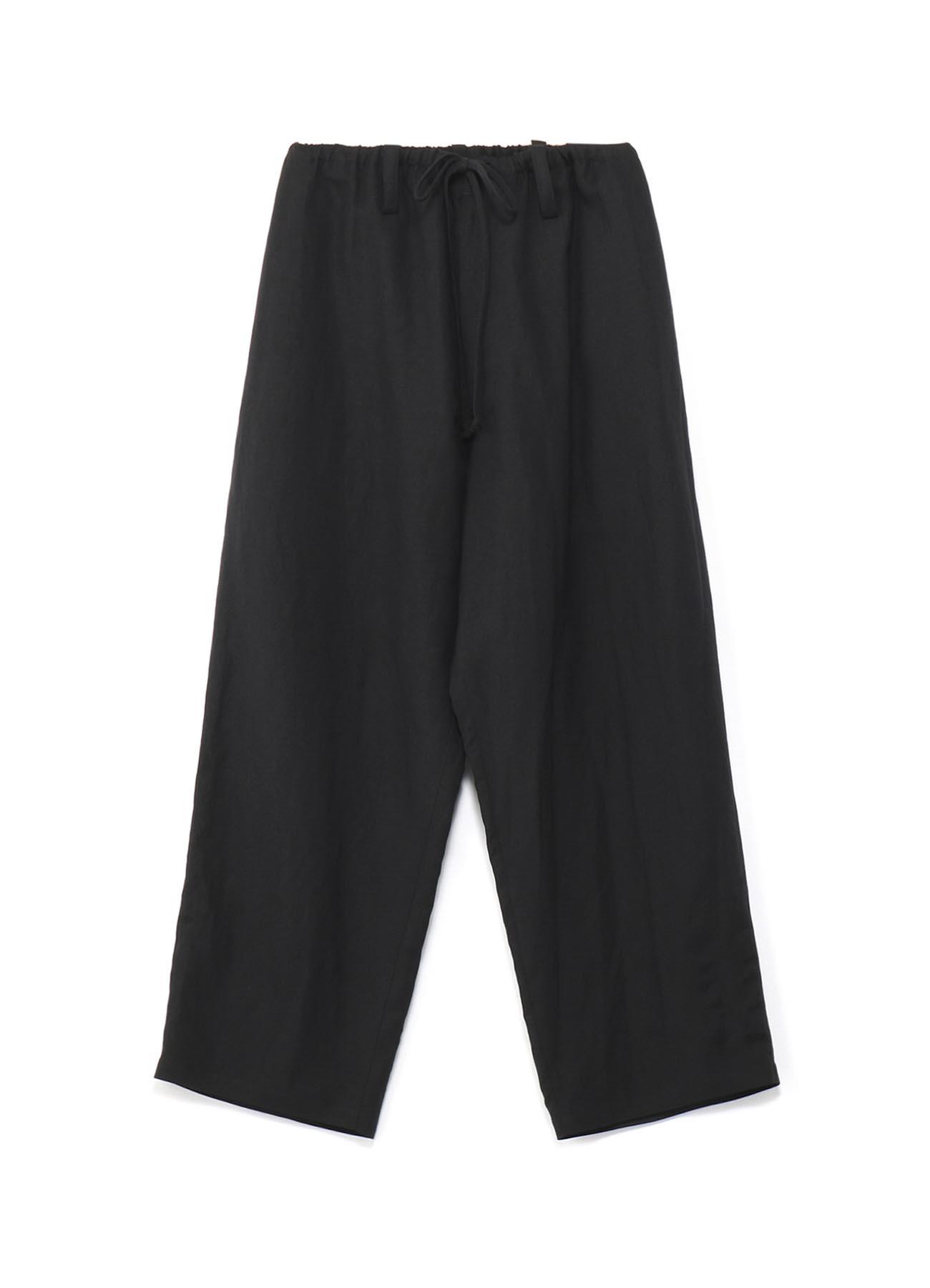 人造丝亚麻混纺长裤