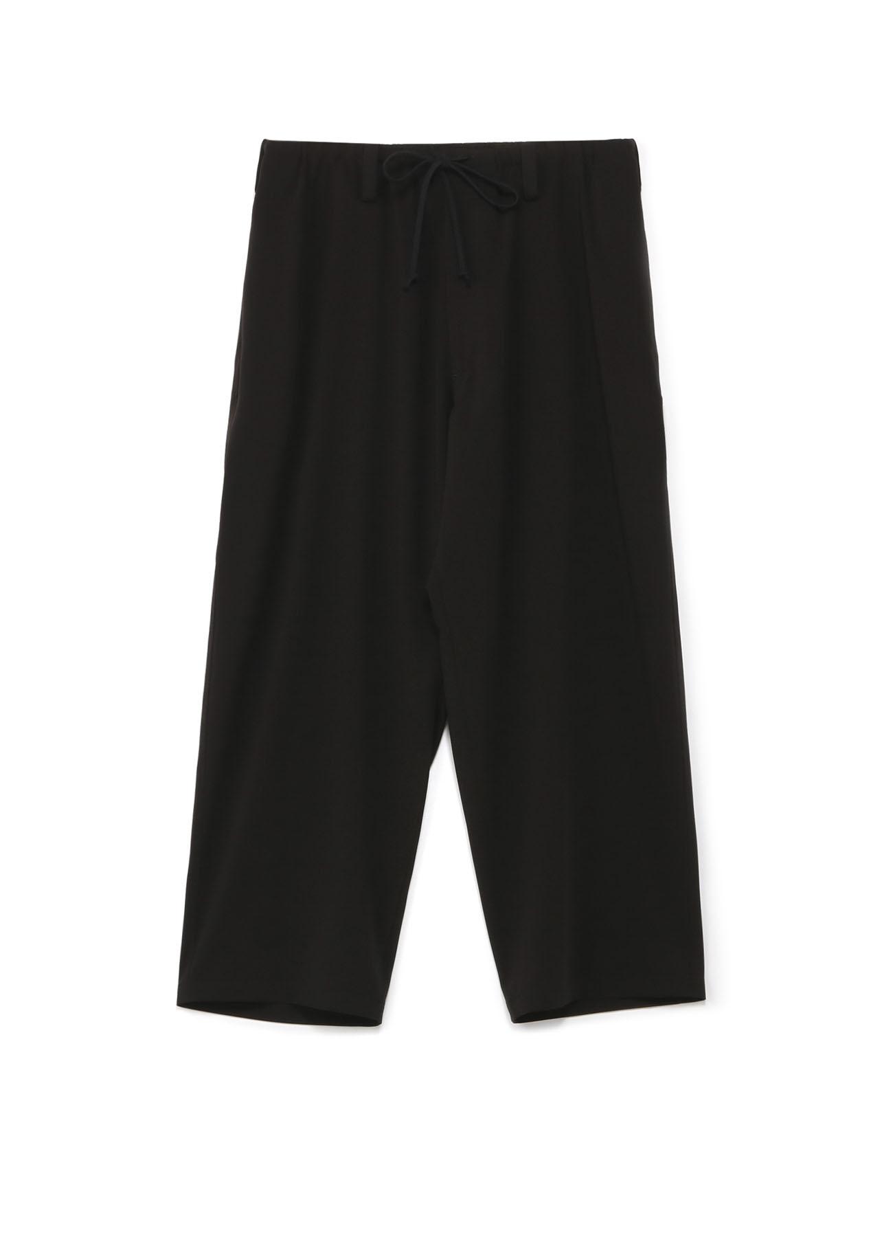 人造丝混纺抽绳长裤