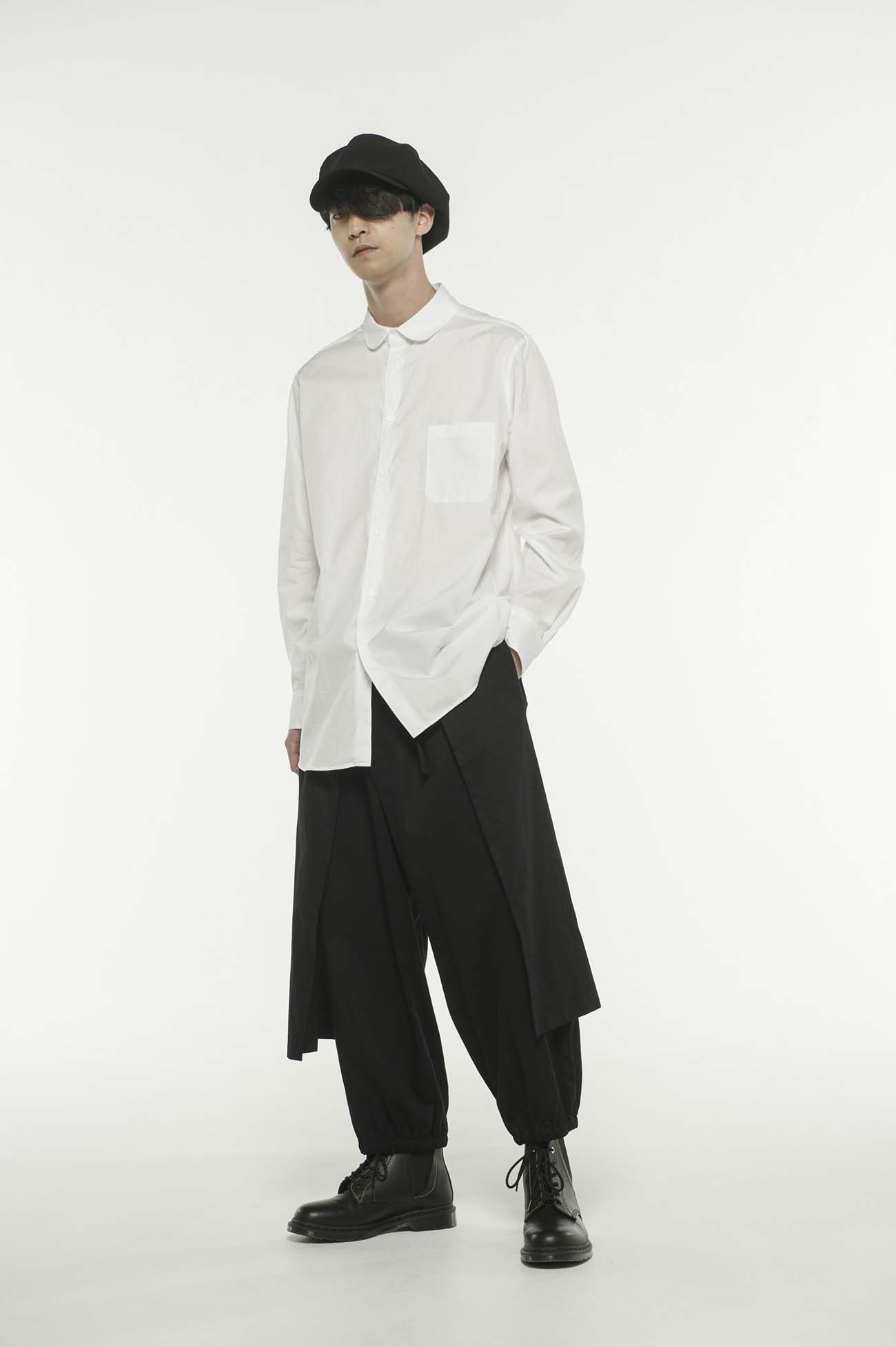 20/Cotton Twill Washer Hem Both Sides Wrap Pants