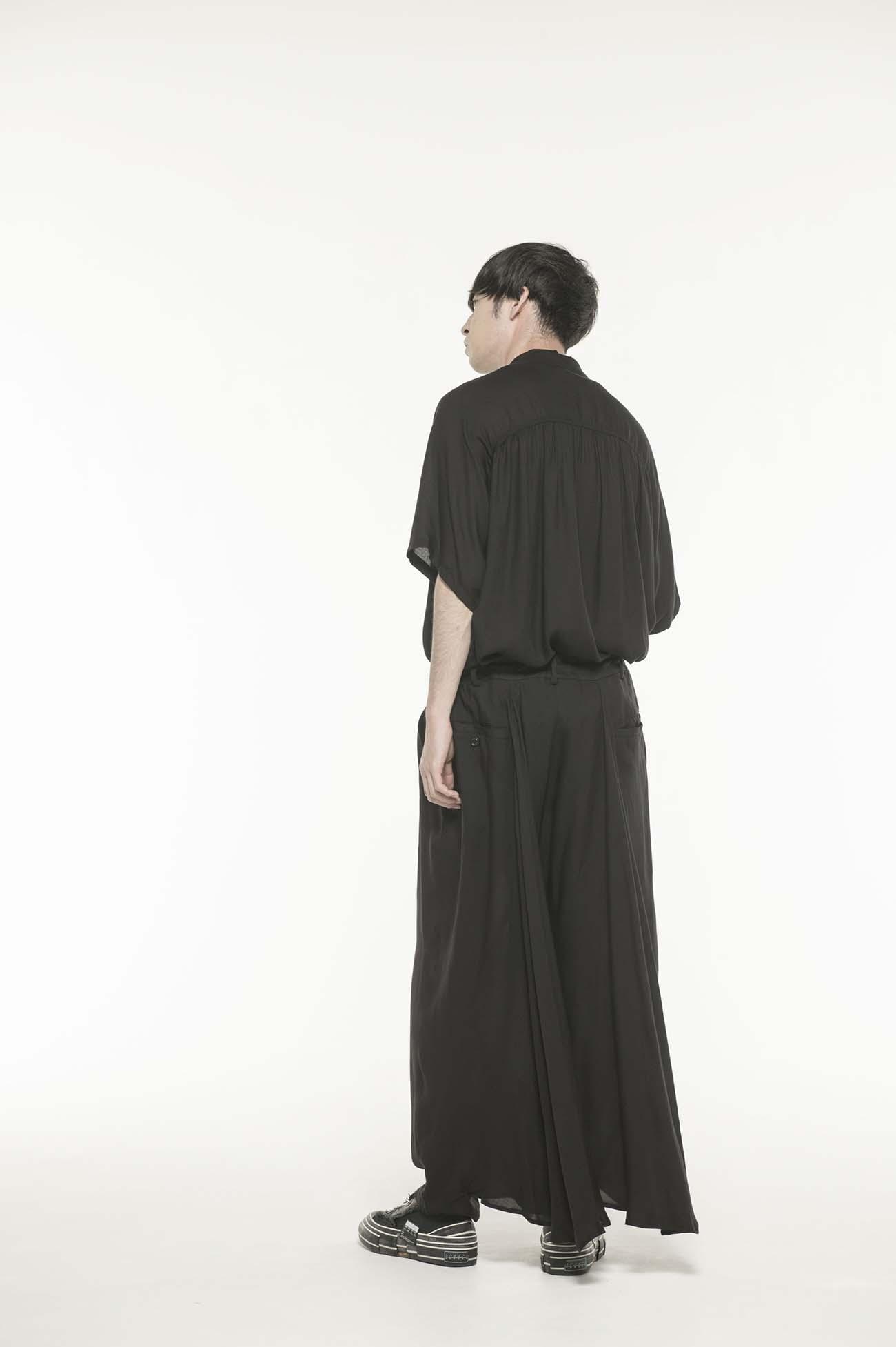 Tencel Viyella Back Flare Seam Crow Pants