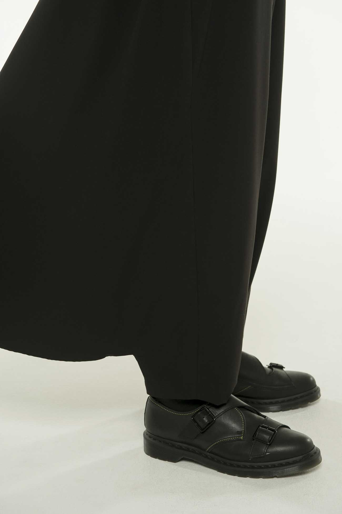 Pe/Rayon Gabardine Stretch Back flare Seam Crow Pants