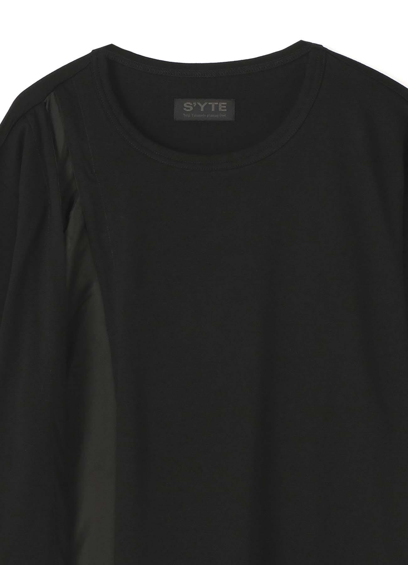 不对称设计拼接短袖T恤