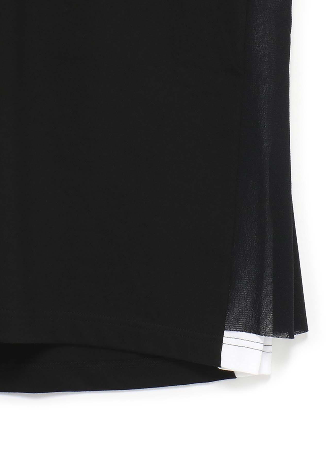 40/2 Cotton Jersey Tulle Layered V-neck Stitch Work T-shirt