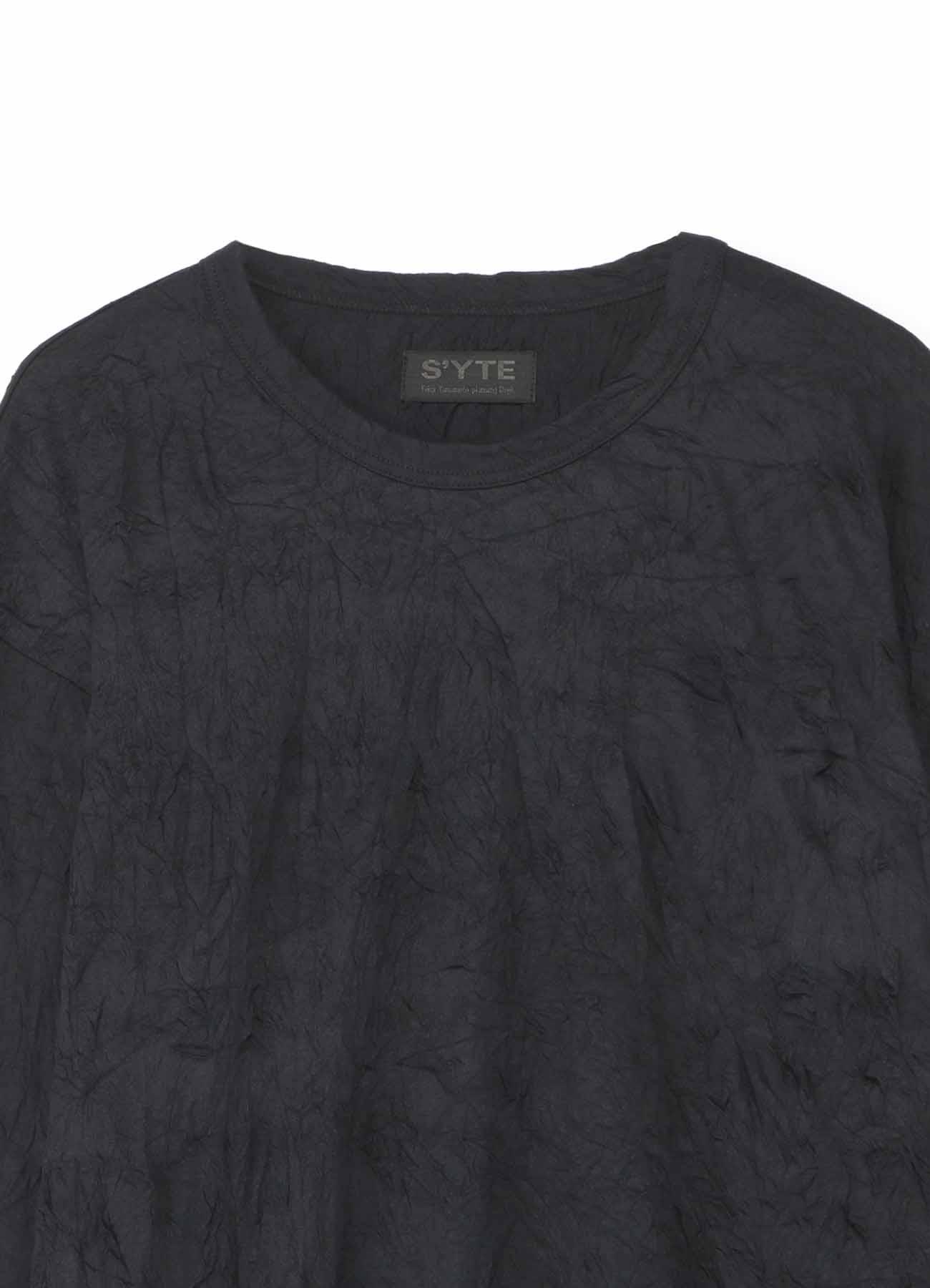 褶皱加工基本款长袖T恤