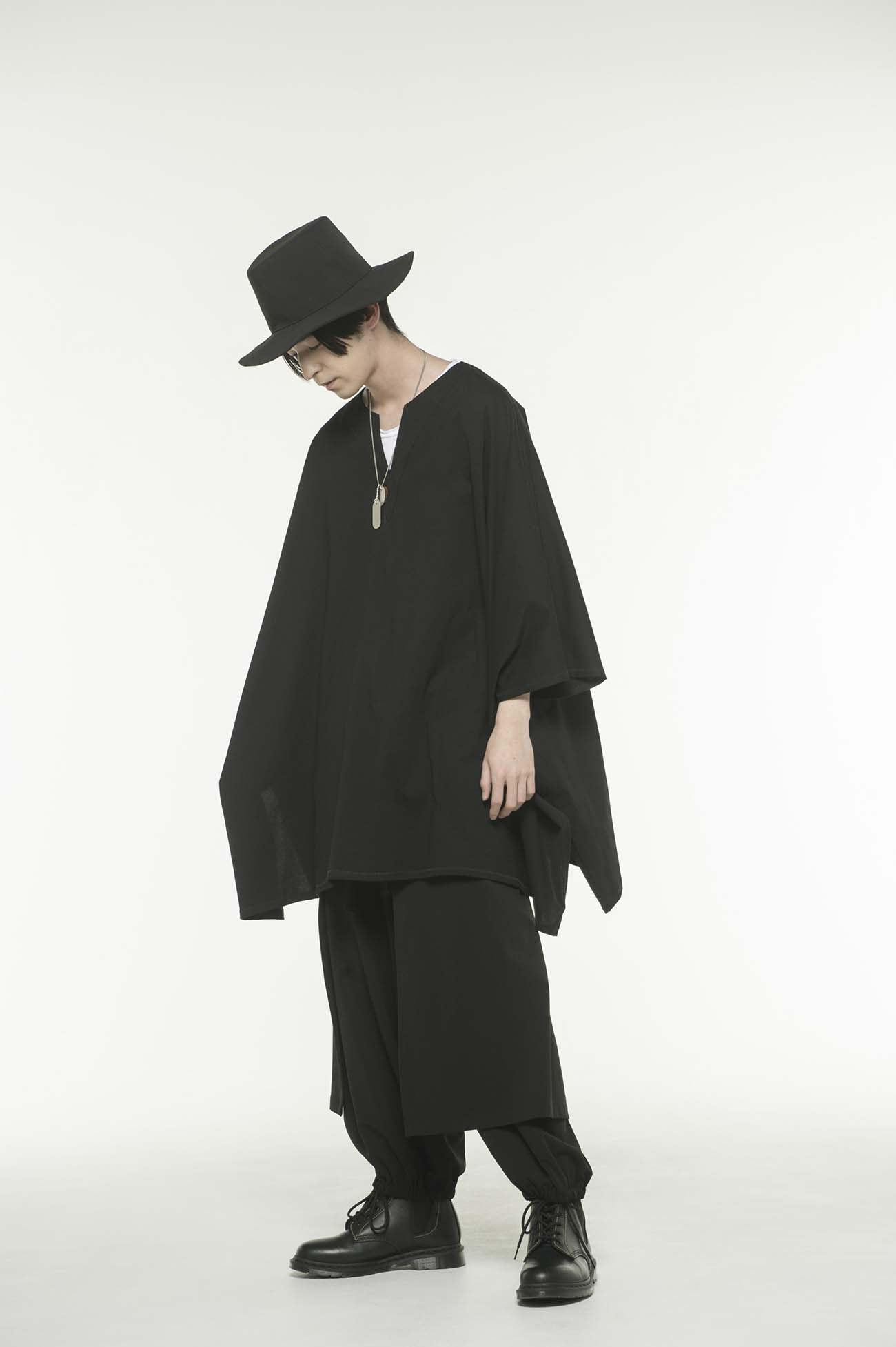 40/2 Cotton Jersey V slit Tunic Poncho Pullover