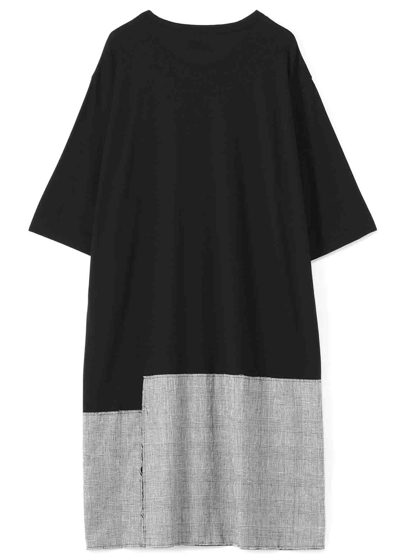 C/Lyocell Jersey Patchwork Long T-shirt
