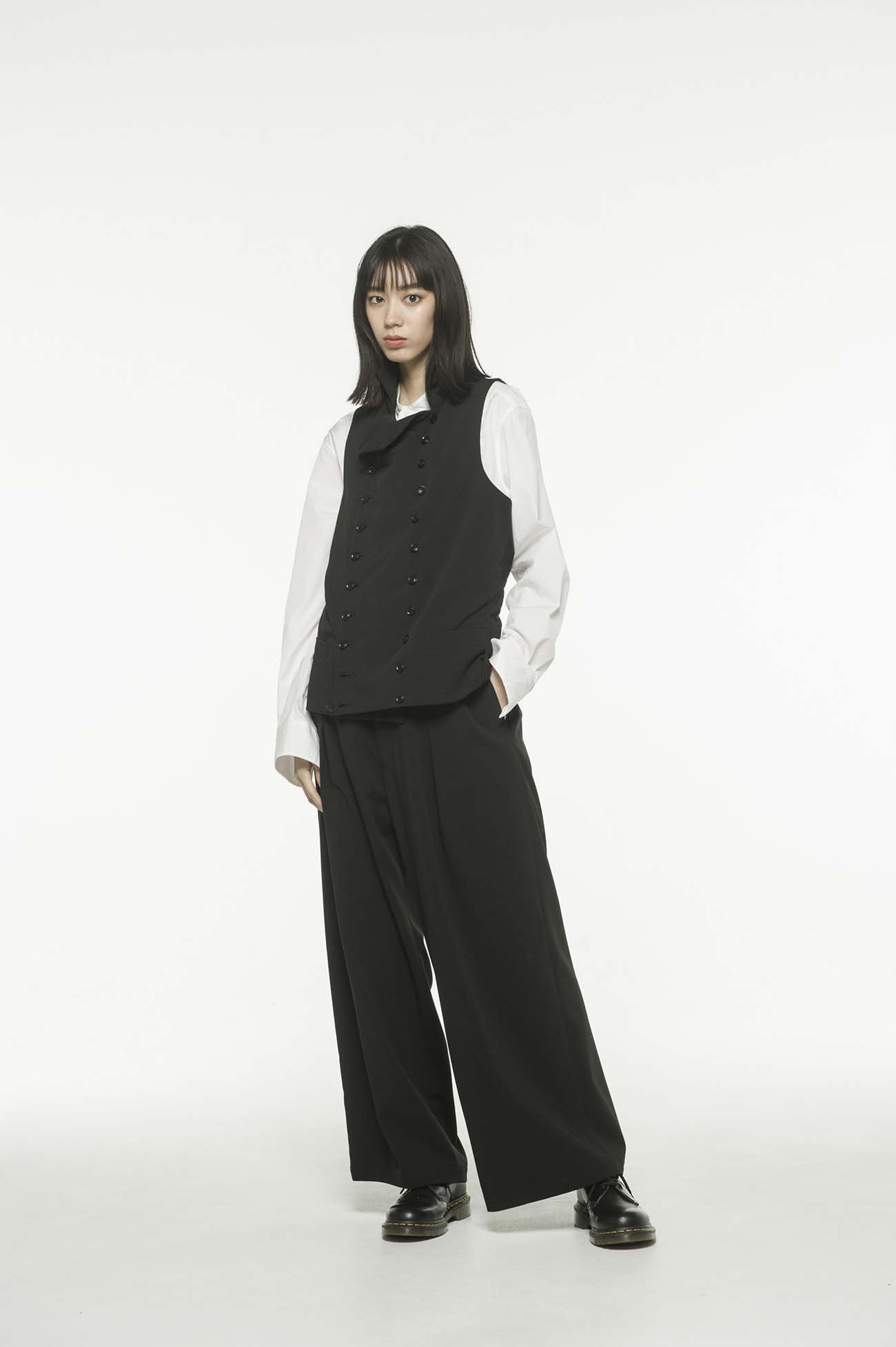 Pe/Rayon Gabardine High color double vest