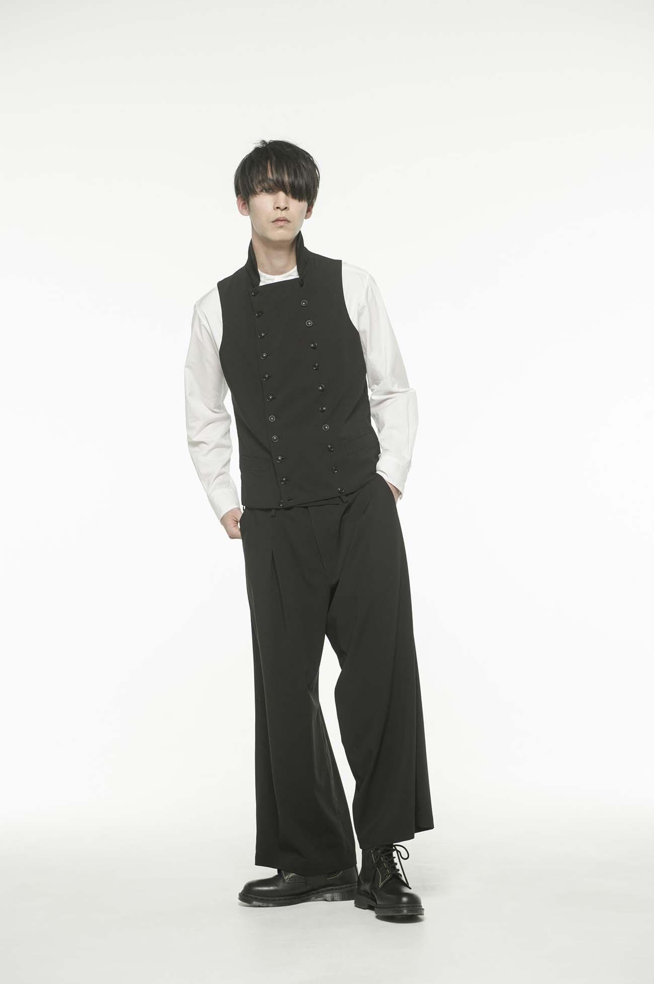 Pe/Rayon Gabardine High color double vest