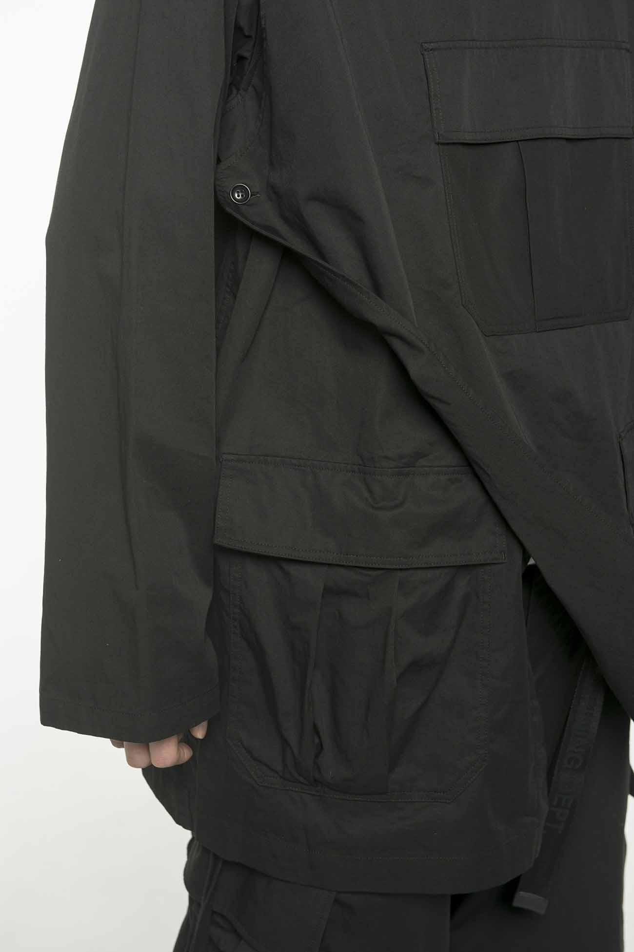30s Combed Burberry Stand Open Shoulder Side Army Jacket