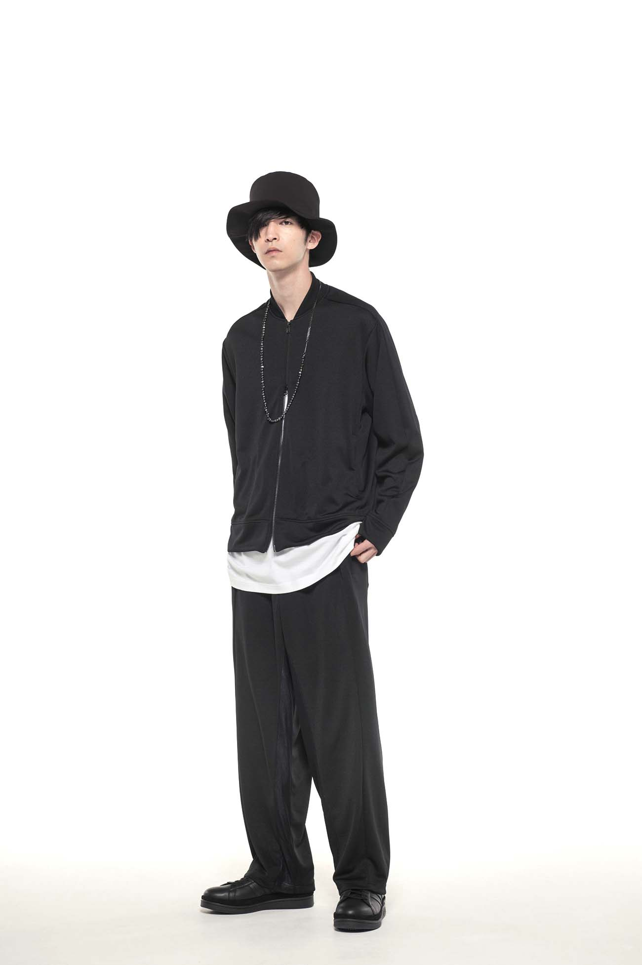 Pe/Smooth Jersey 「I am an animal making clothes.」Rib Collar Track Jacket