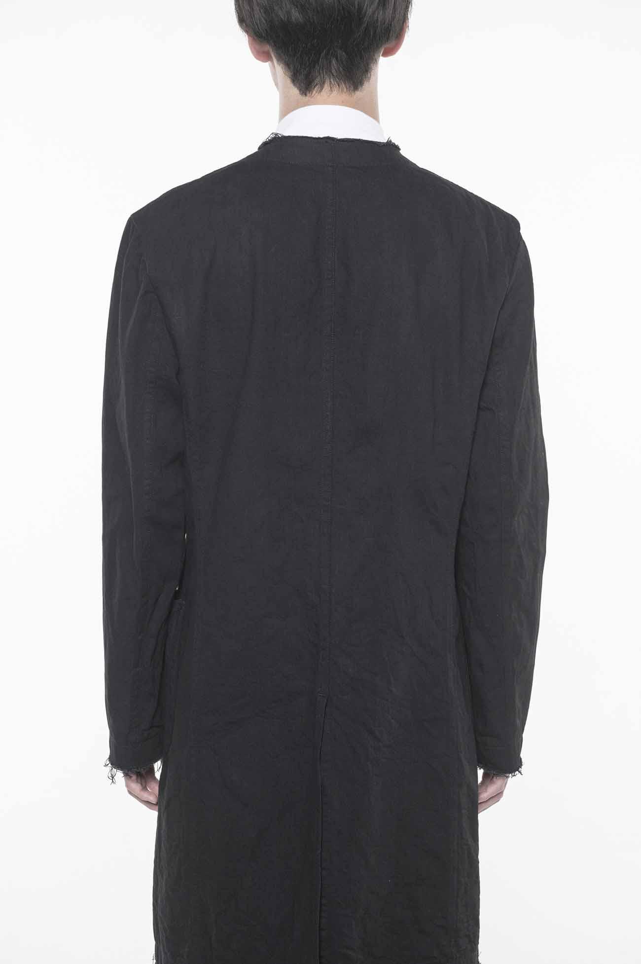 10 oz Denim No Collar Long Jacket