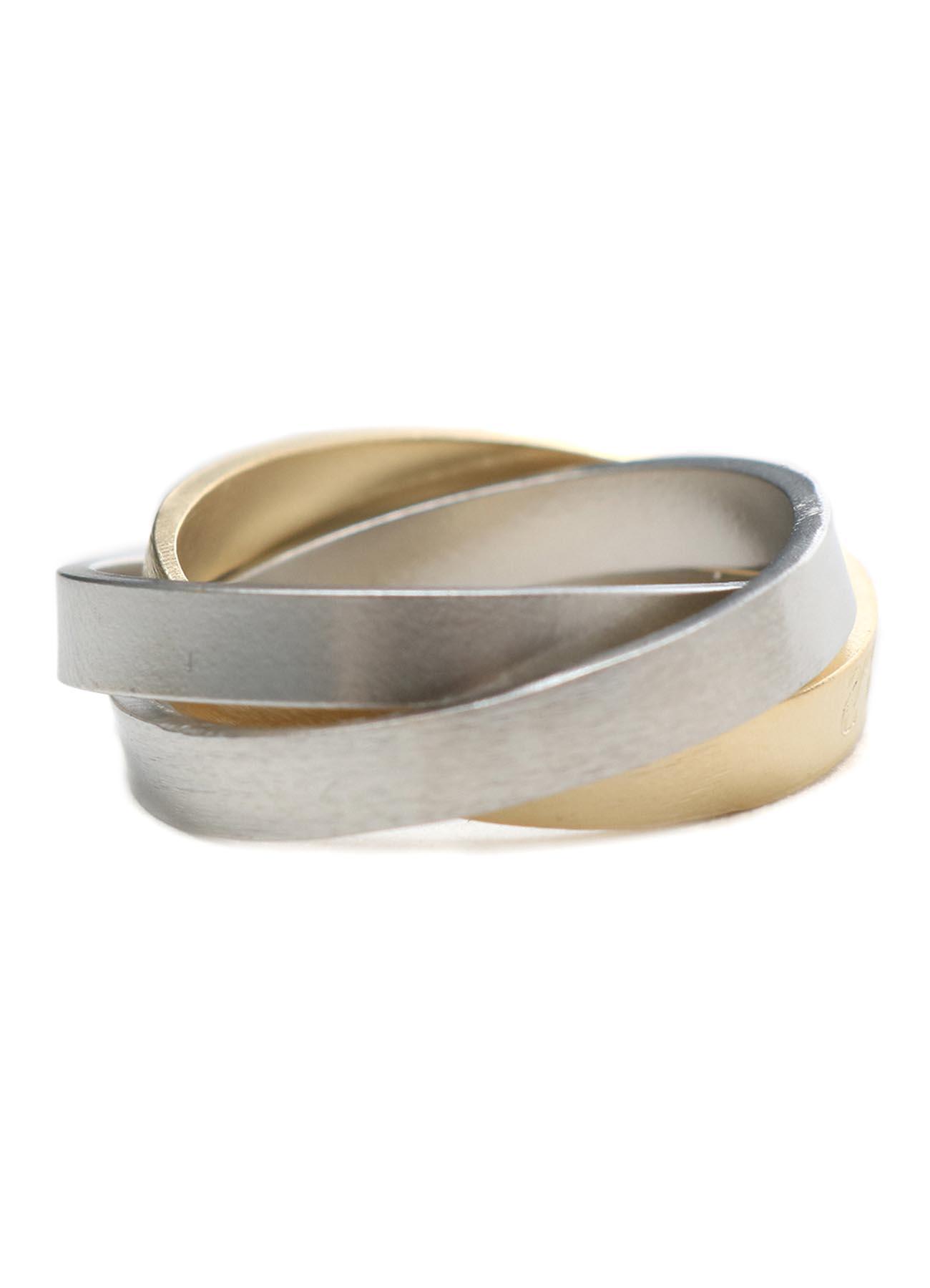 Brass Trinity Logo Pinkie Ring
