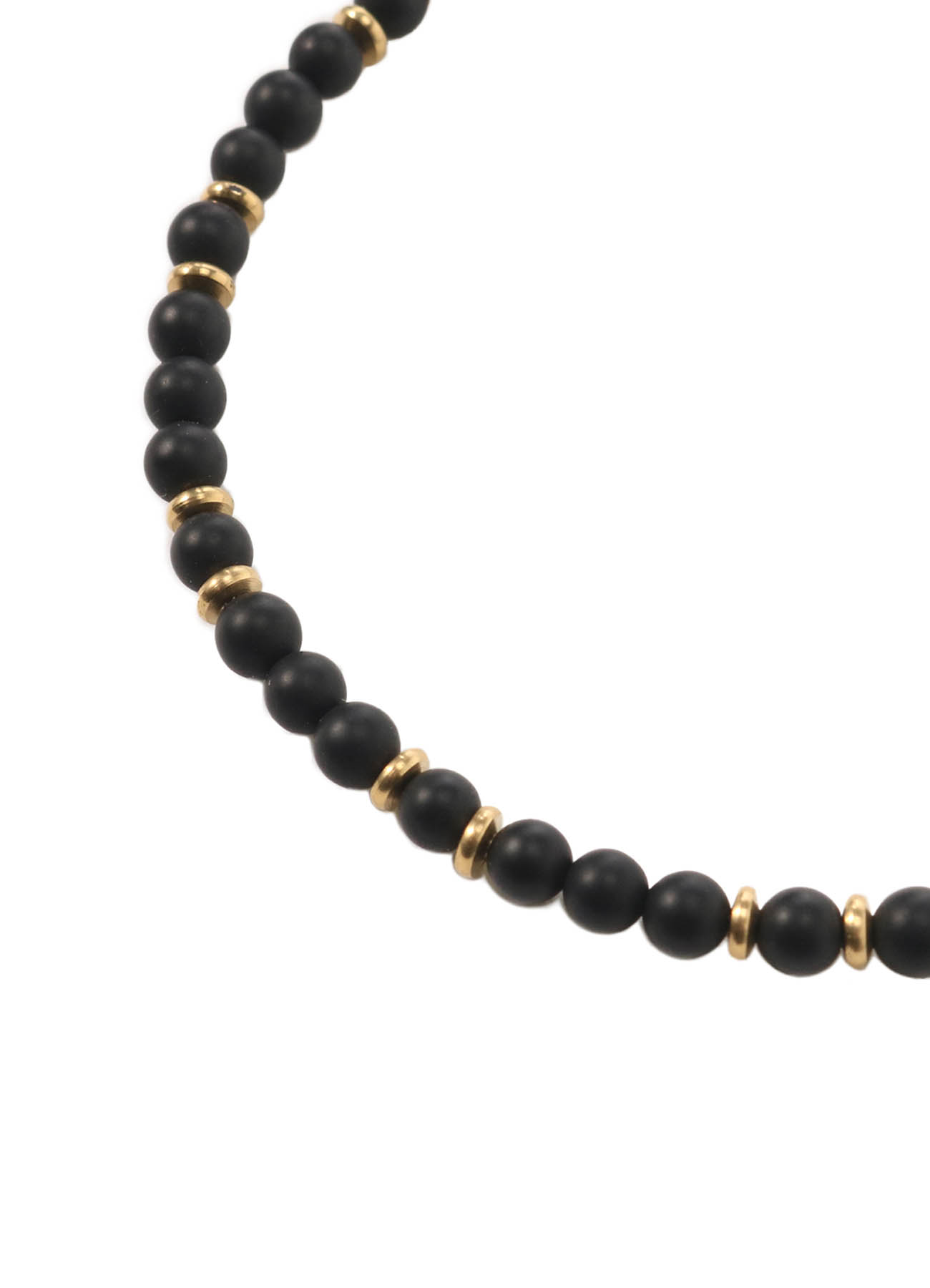 Frost Onyx Gold Brass Beads Necklace Bless