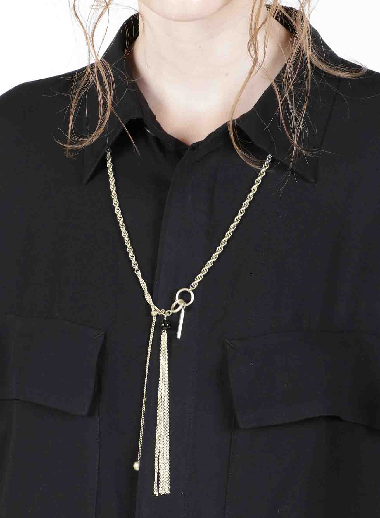 One Tassel Long Chain Necklace