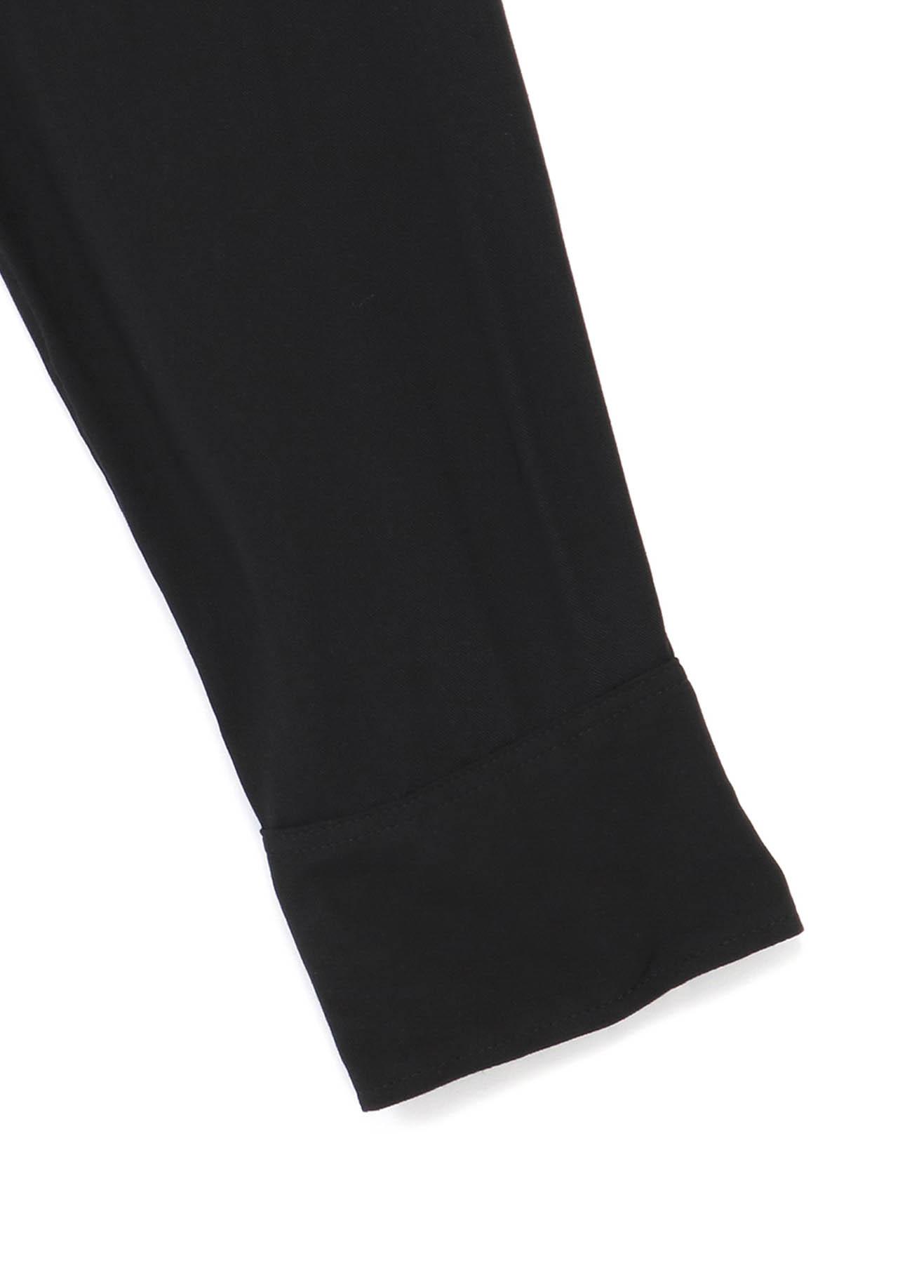 60s Ry/Span Twill Washer Shawl Collar Back Stripe Long Shirt