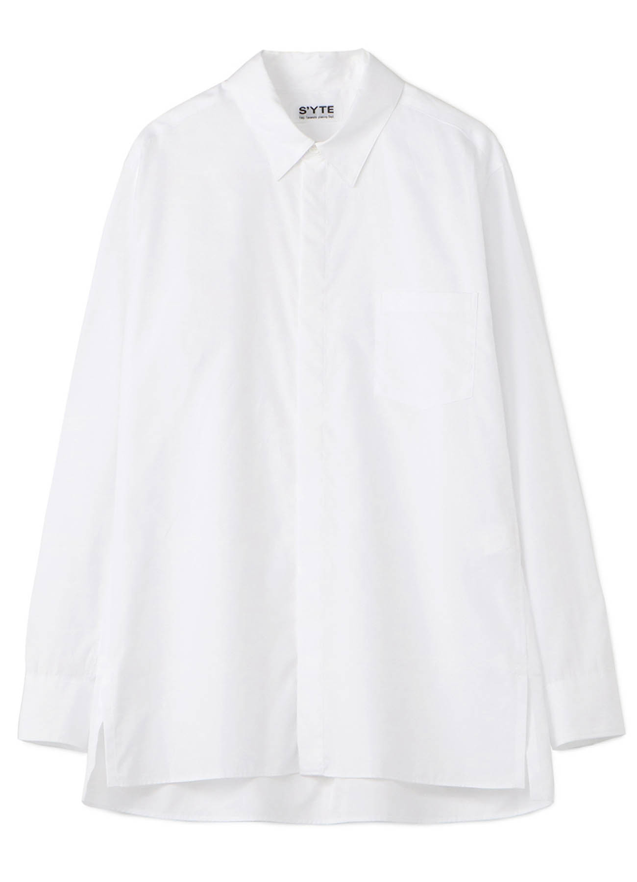 100/2 Broad Regular Collar Fly Front Shirt