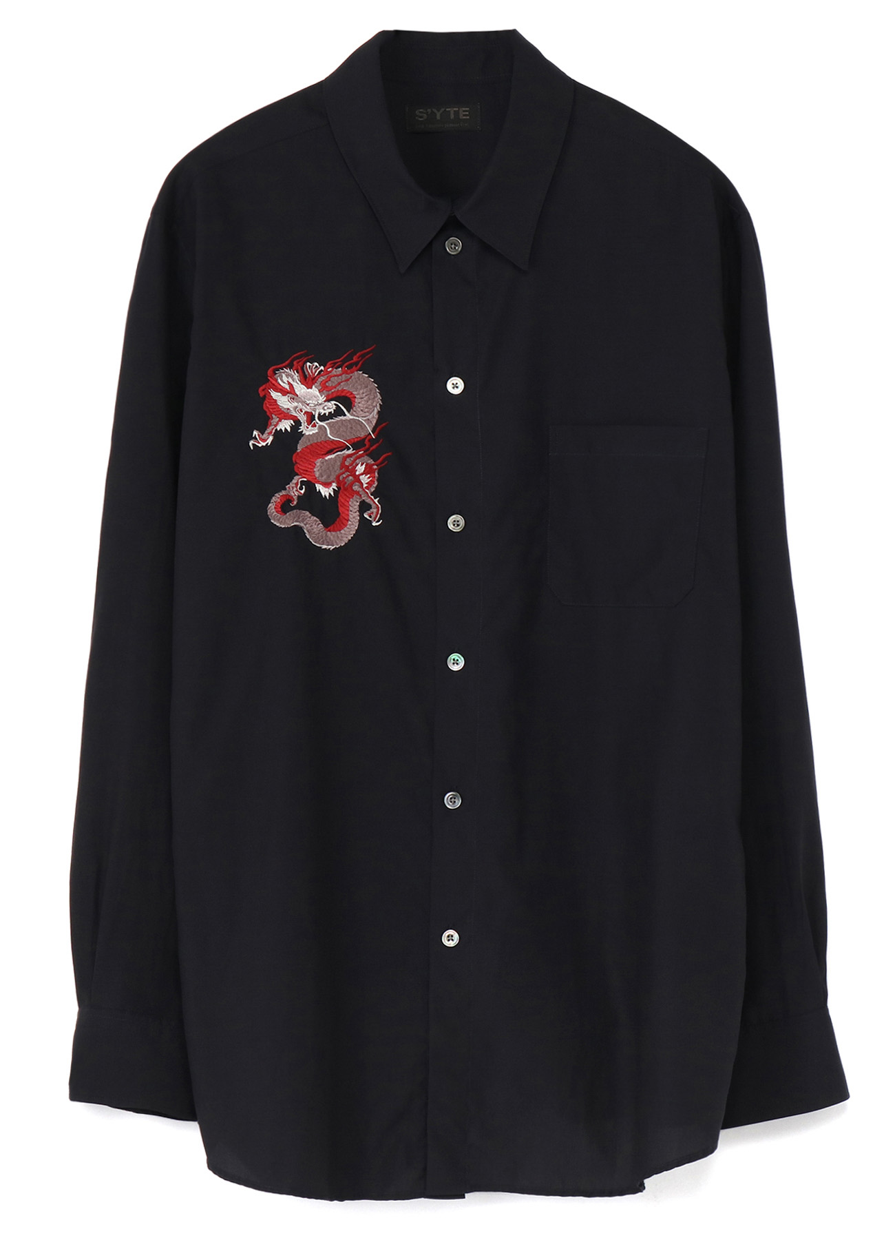 50s Cellulose/Cotton Broad Embroidery Regular Shirt