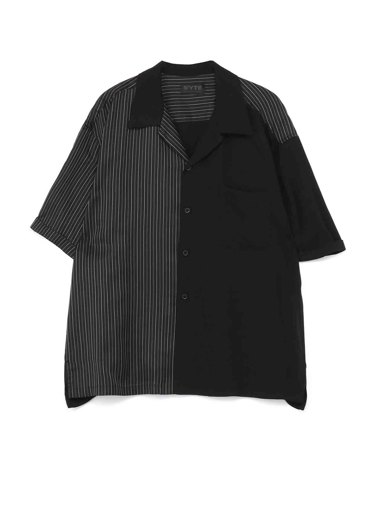 60s Ry/Span Twill Washer/Cupra Stripe Big Short Sleeve Shirt