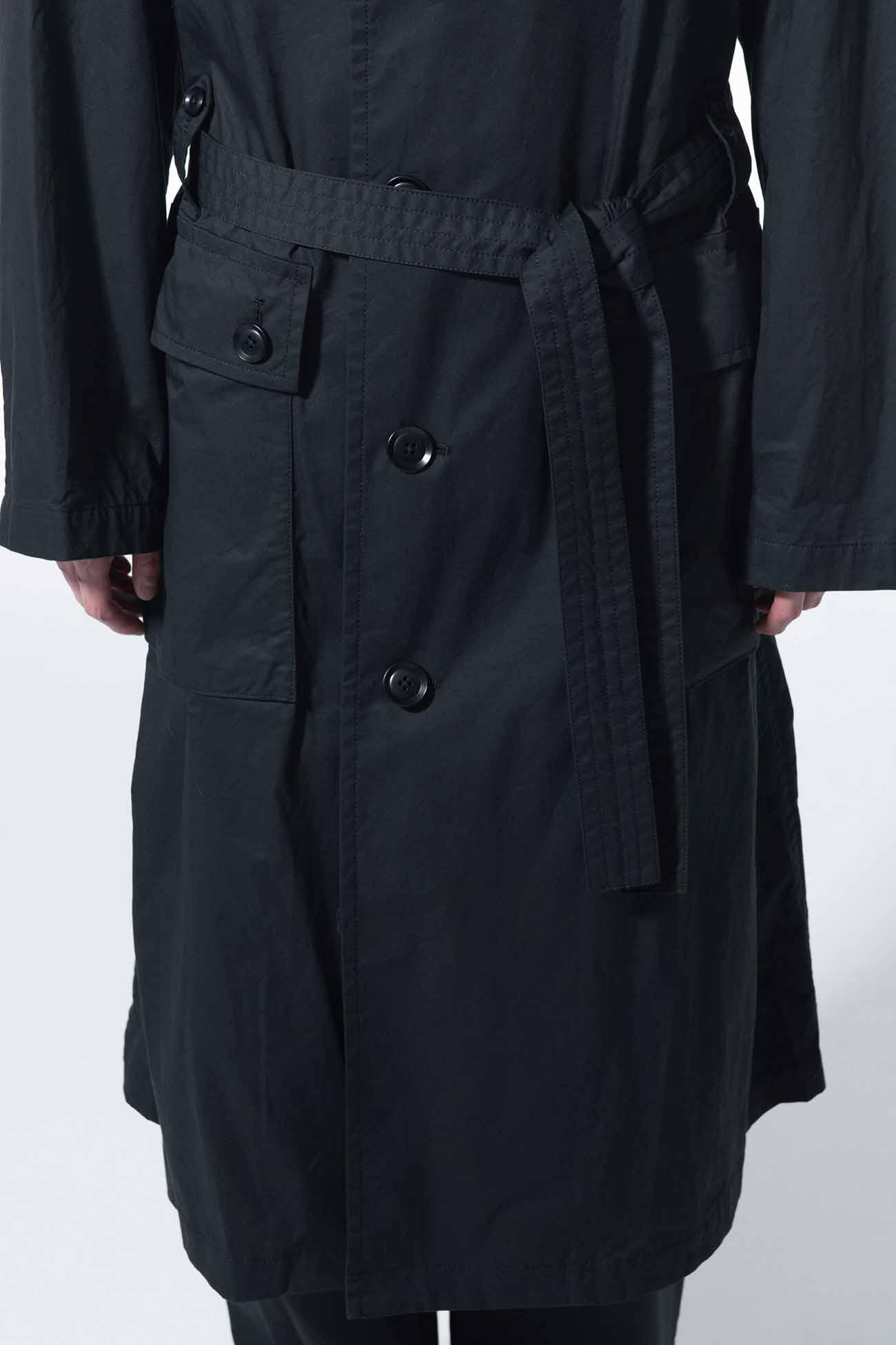 Cotton Twill Big Trench Cargo Pocket Coat