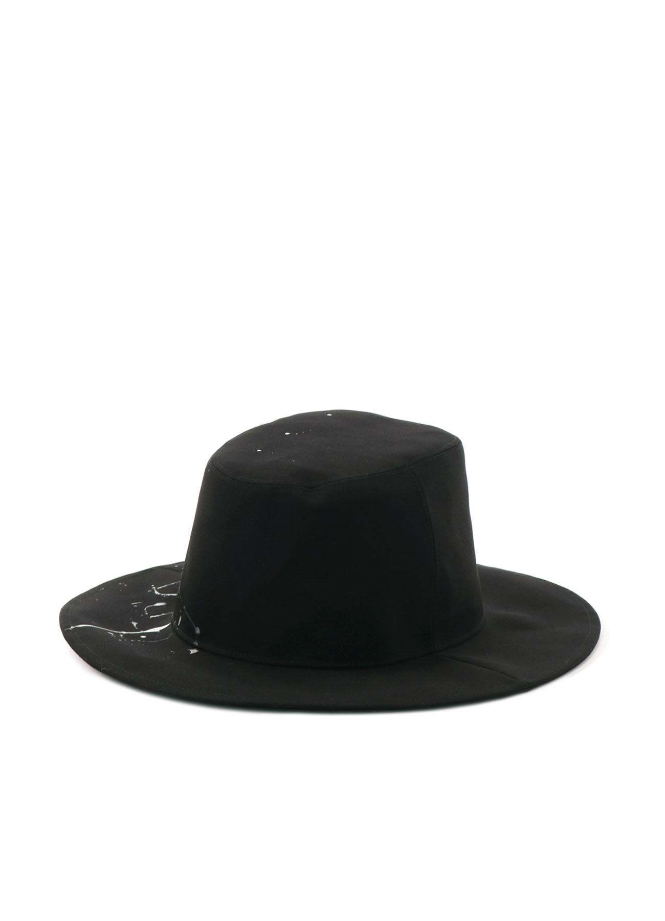 Pe/Rayon Gabardine Stretch Splash Paint Processing  Long Brim Hat