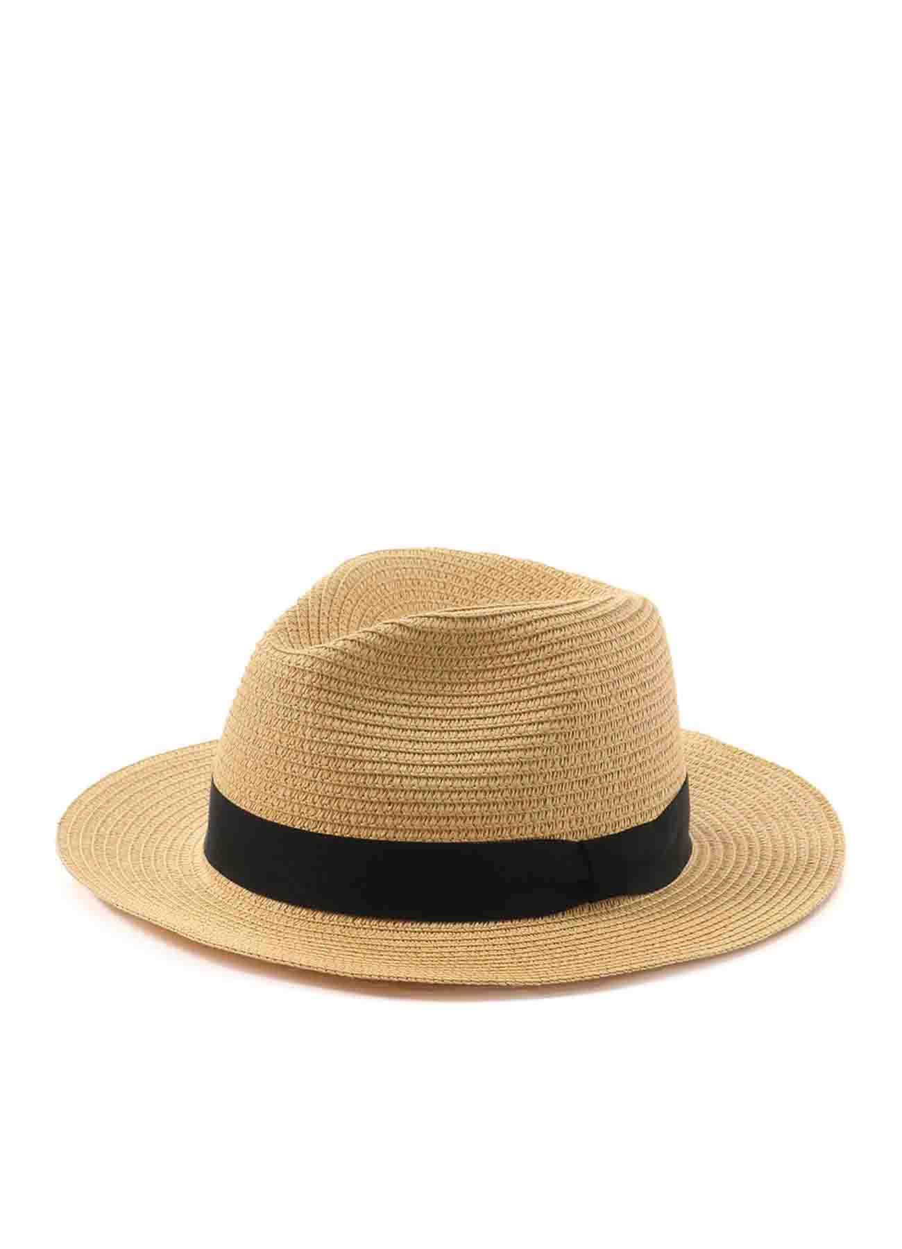 Straw Paper Medium Brim Hat