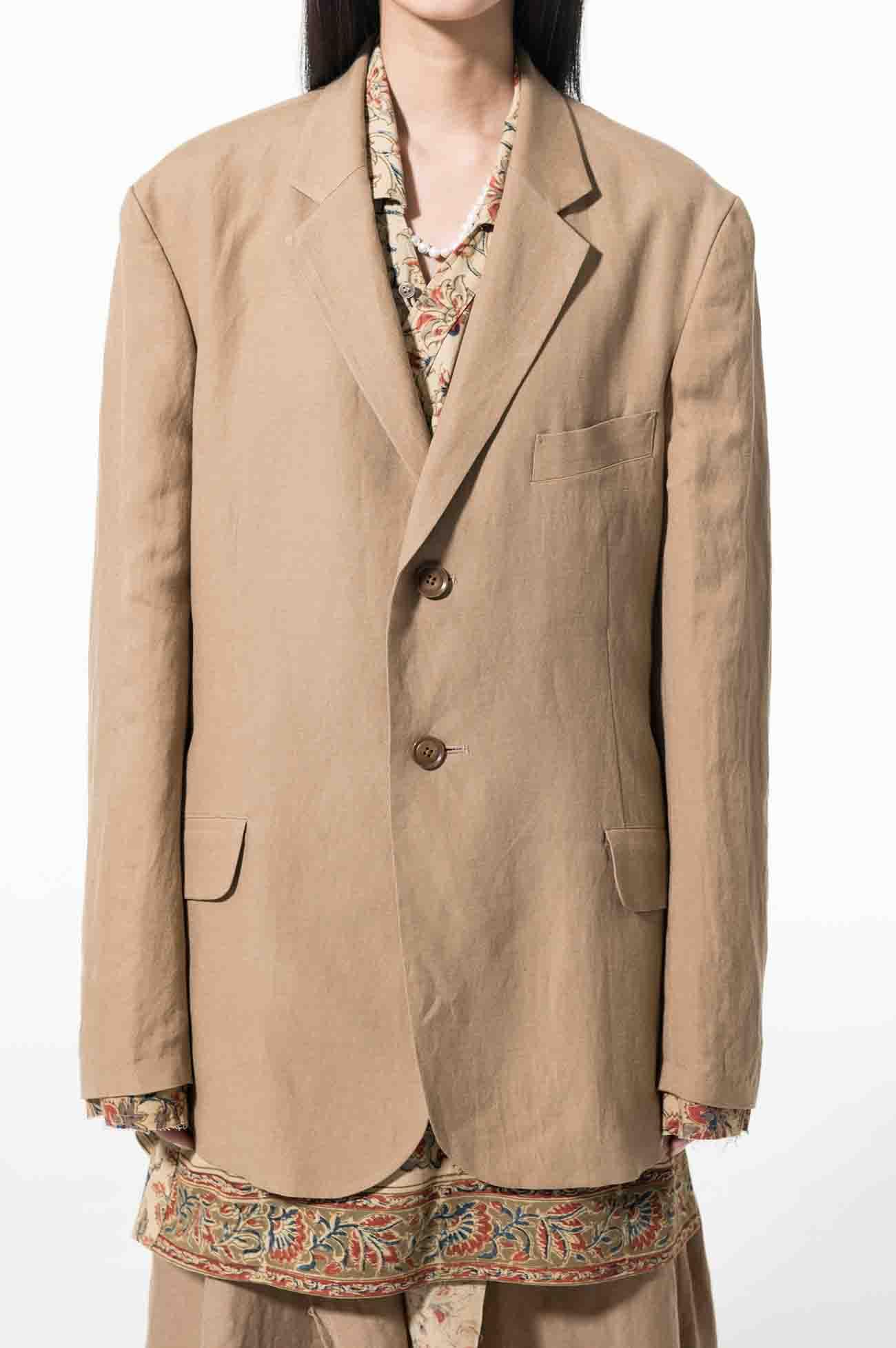 Ry/Li Easy Cross Indian Layer 2BS Slim Jacket