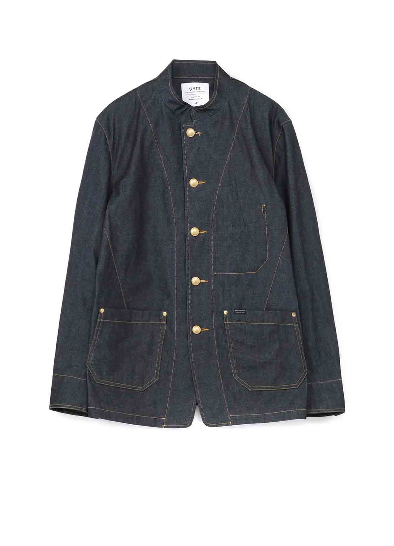 10 oz Denim stand collar Coveralls Jacket