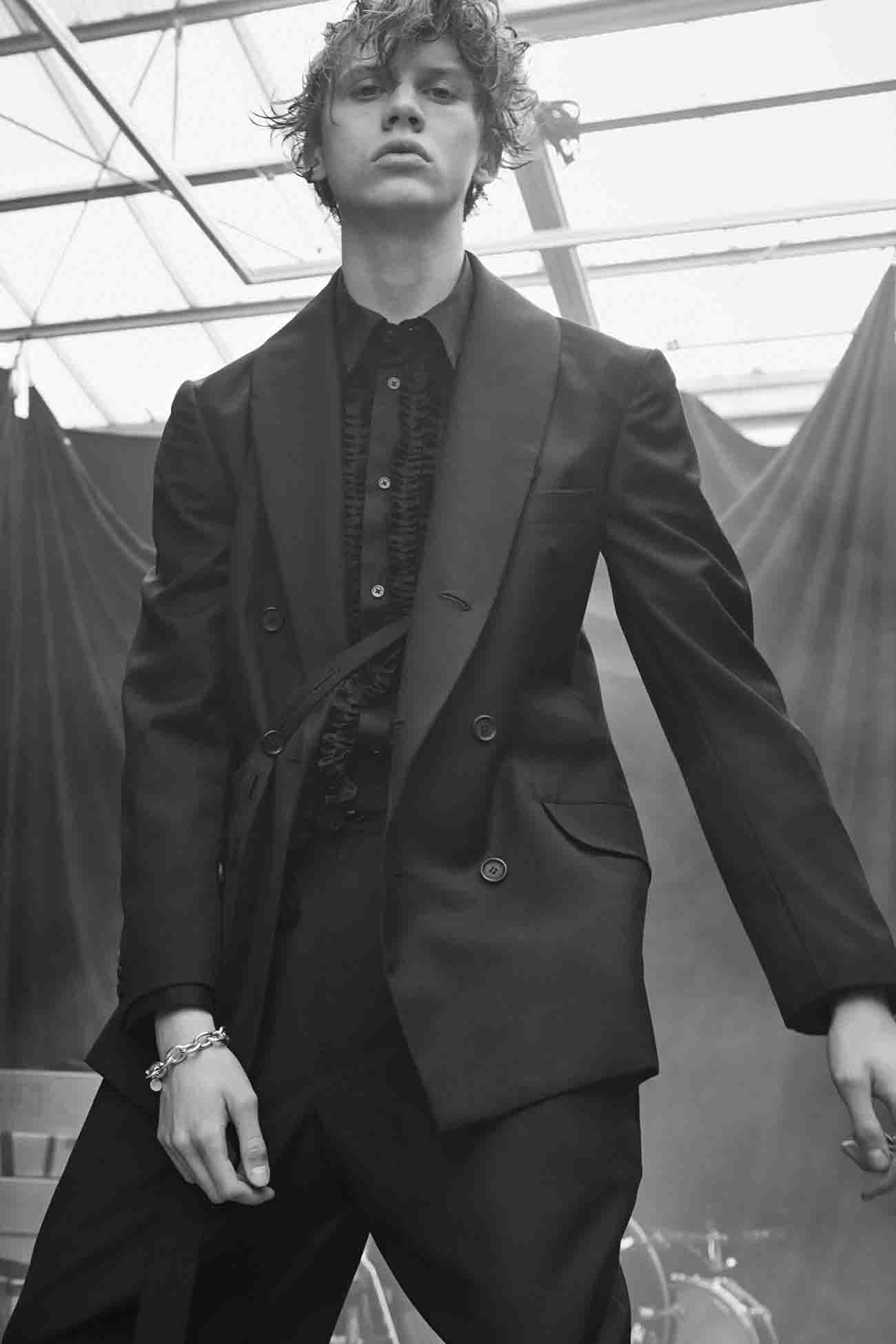 T/W Gabardine Shawl Collar 6BW Jacket