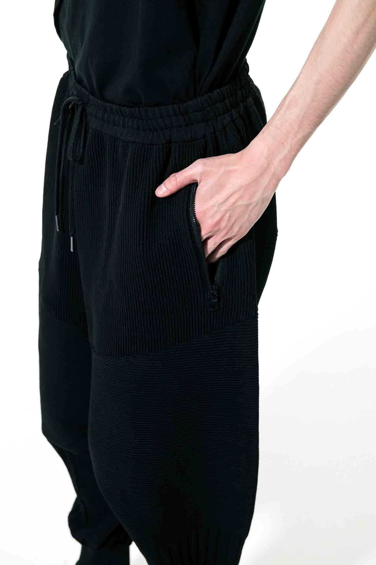 12G Spritzy Plain Stitches Hem Rib Balloon Saruel Pants