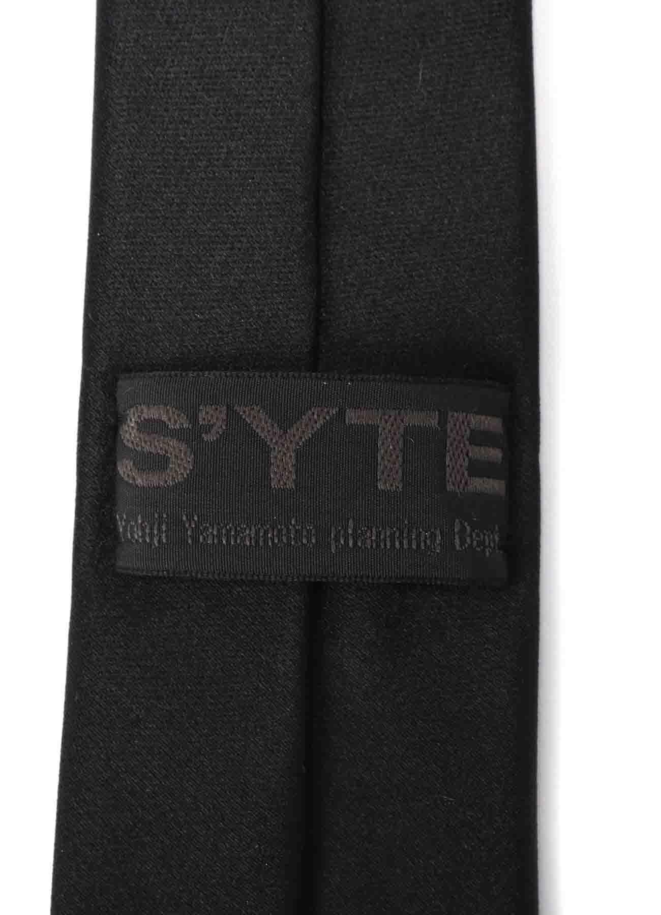 Silk Satin Blue Tattoo Necktie