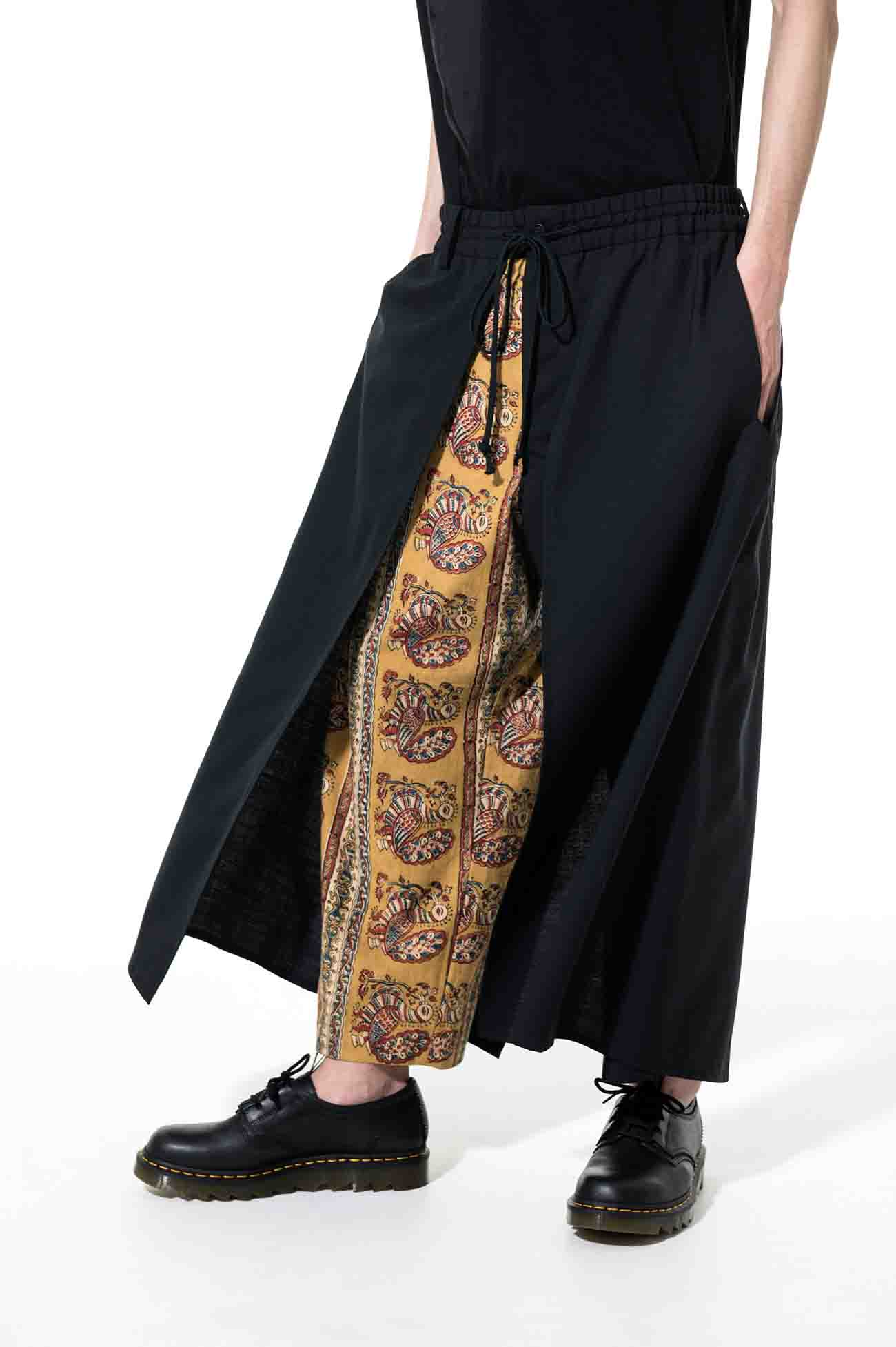T/W Tropical Indian Block Print Peacock Layer Cover Pants