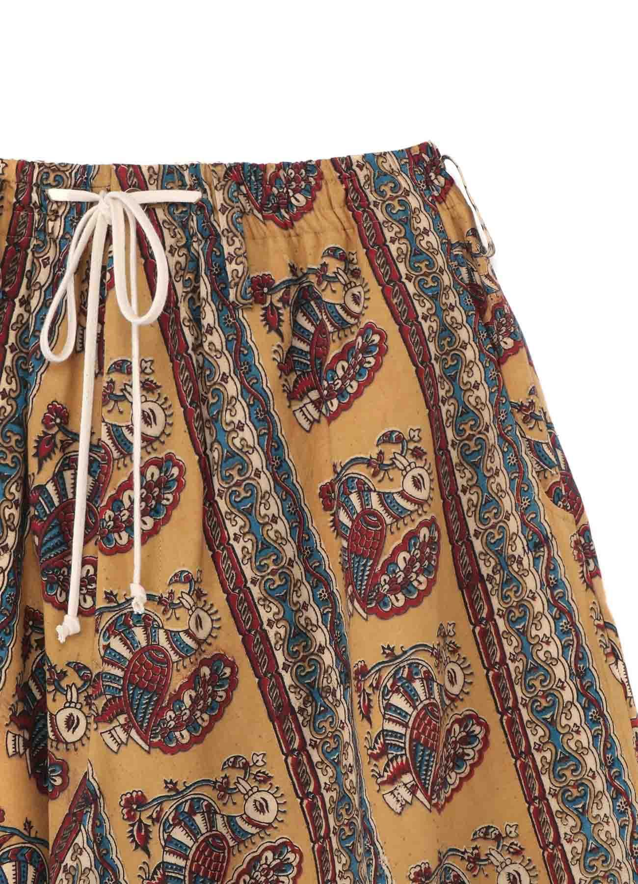 Indian Block Print Peacock Balloon Sarrouel Pants