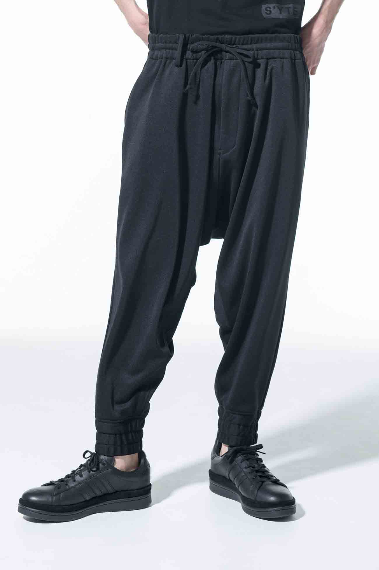 Pe/Smooth Jersey Stitch Work Sarouel Rib New Normal Pants