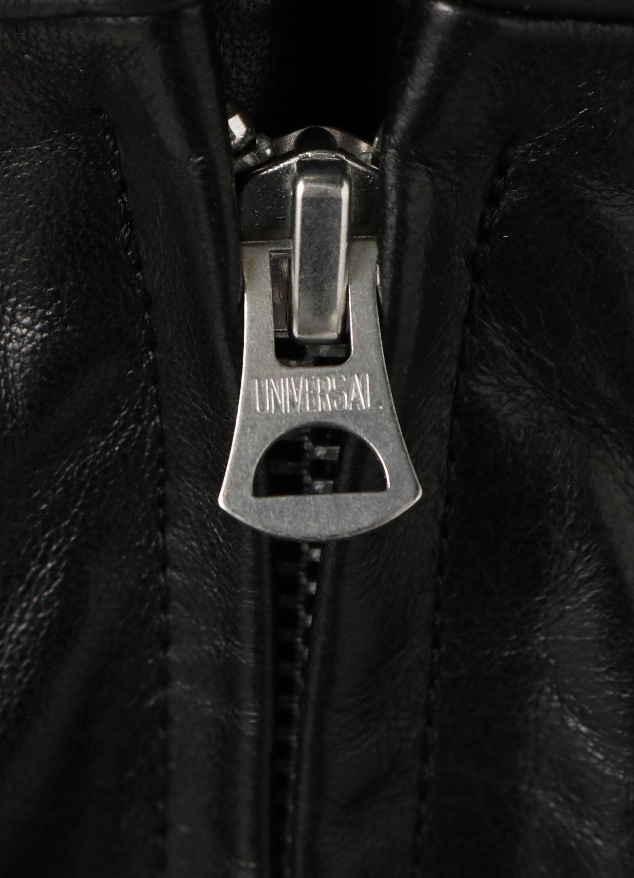 Lambskin Leather Bondage Zipper Cargo Pants