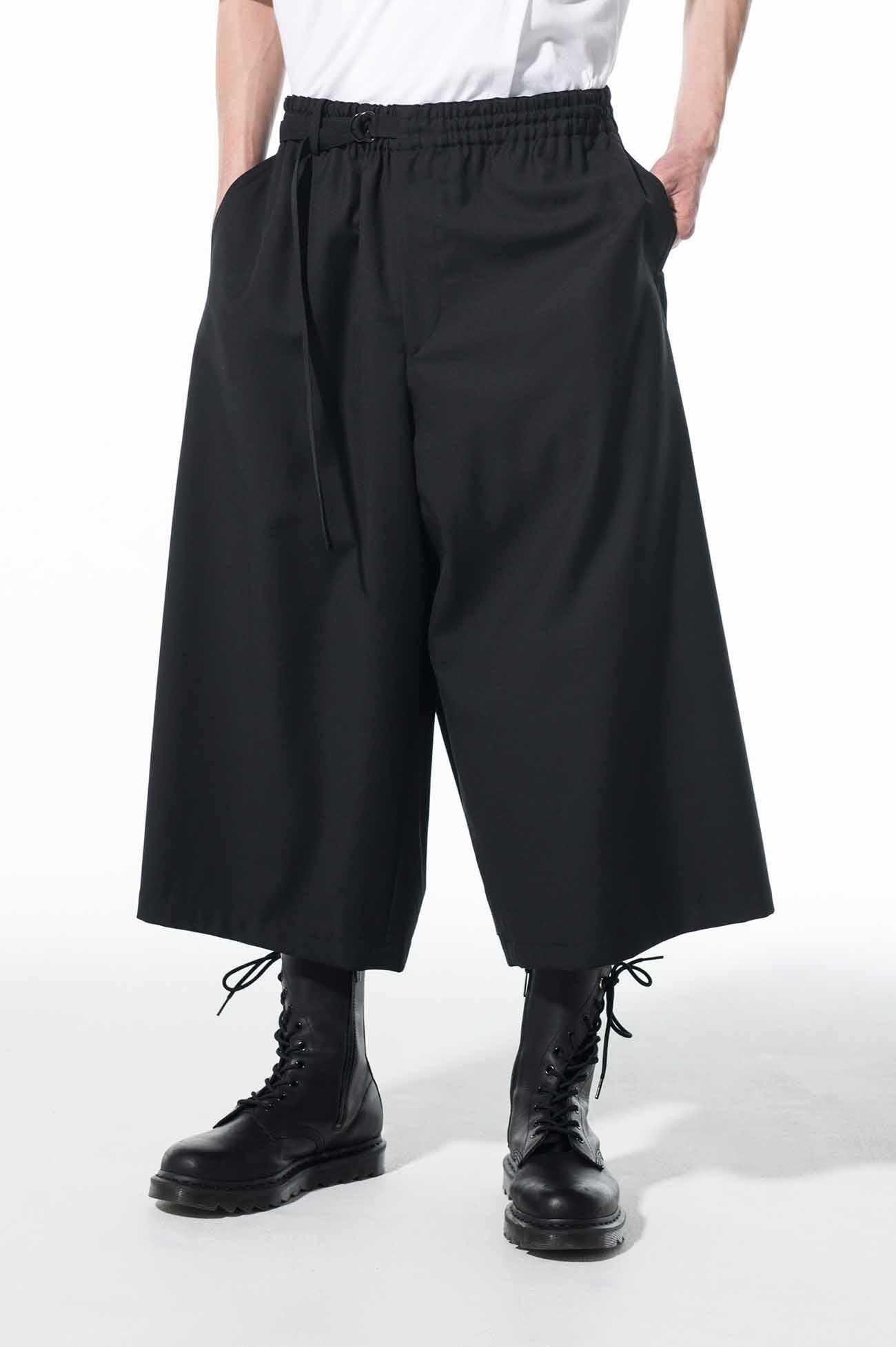 T/W Gabardine Washable Back Wrap Culottes Pants