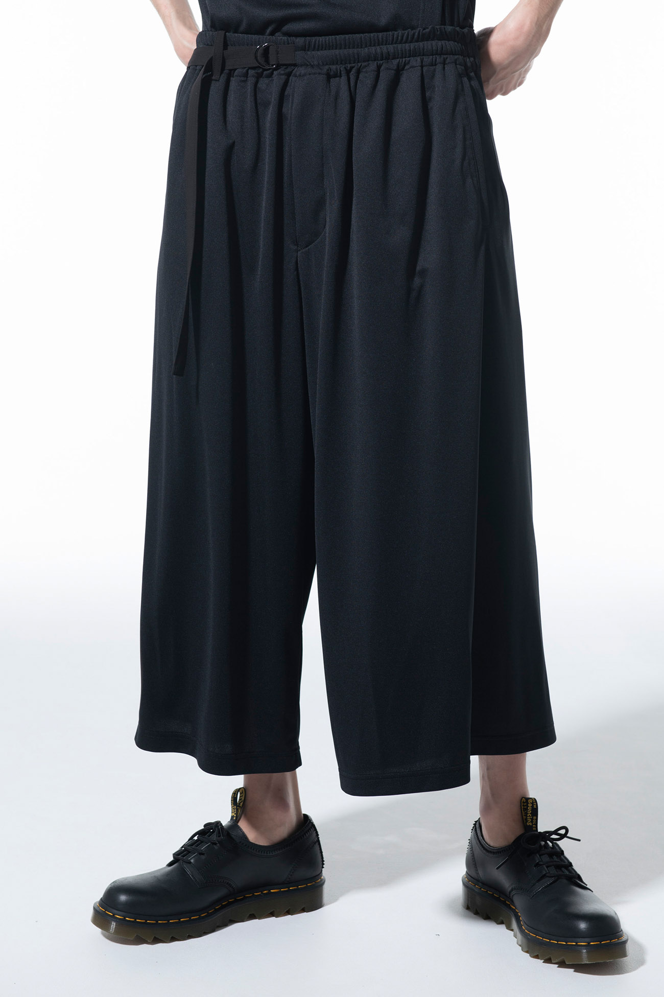 Thin Smooth Jersey Back Wrap Culottes Pants