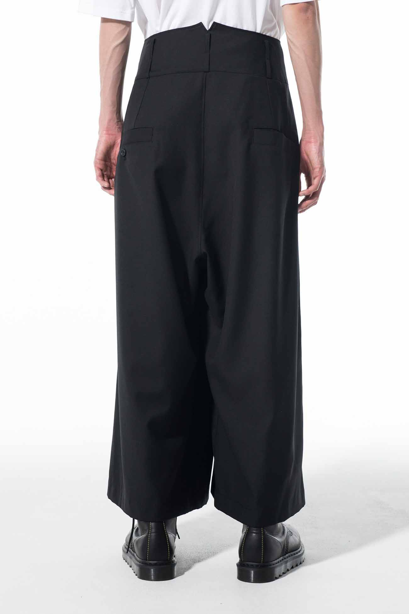 T/W Gabardine Washable Two Tuck High Waist Buggy Wide Pants