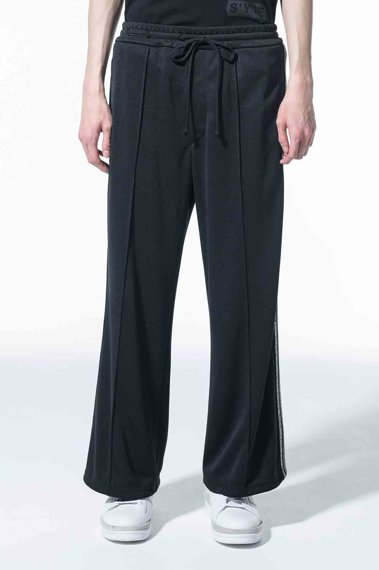 Pe/Smooth Jersey Message Side Tape Flare Pants