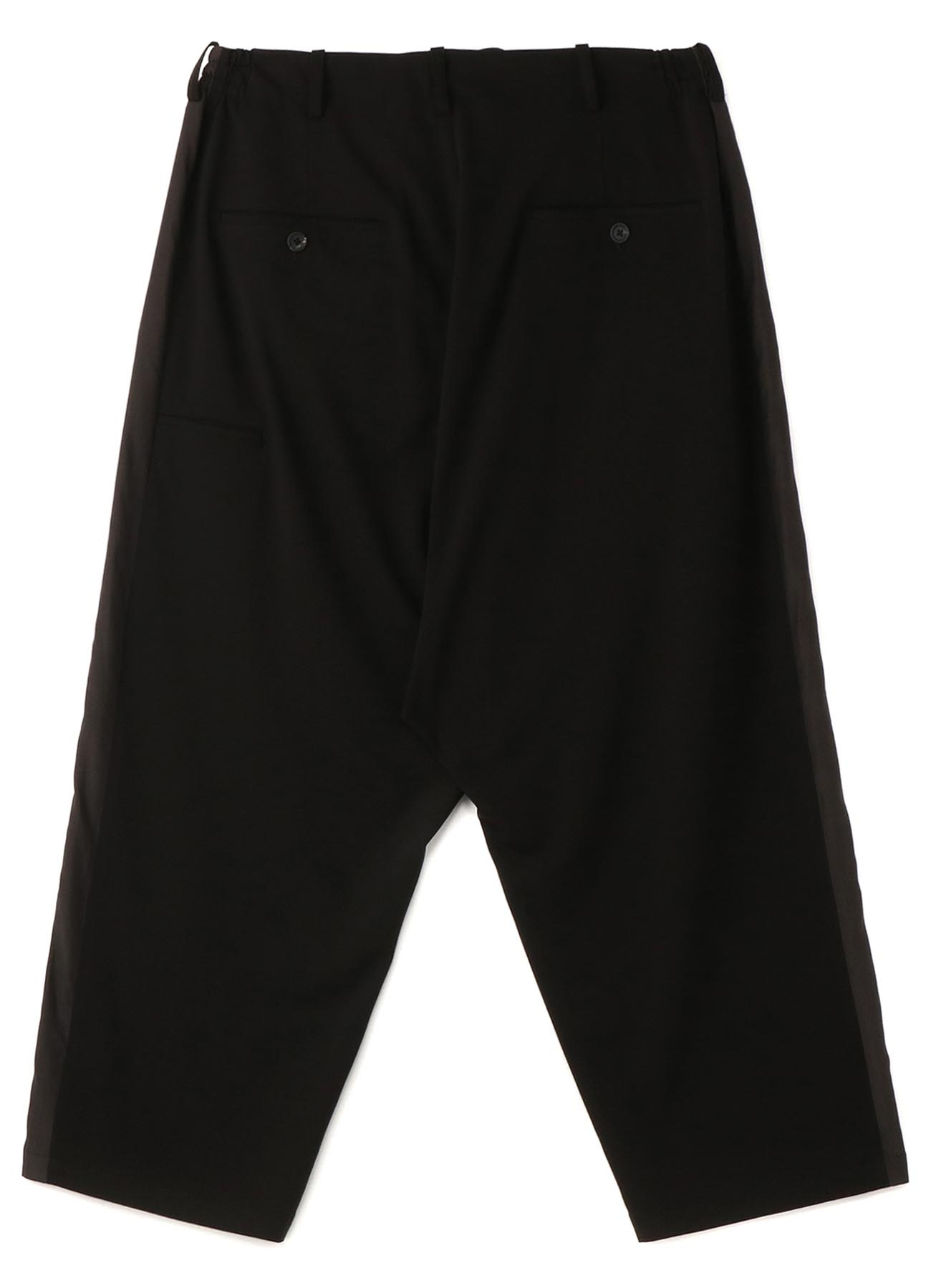 Pe/Rayon Gabardine Stretch One-tuck Side Tape Extra Wide Sarouel Pants