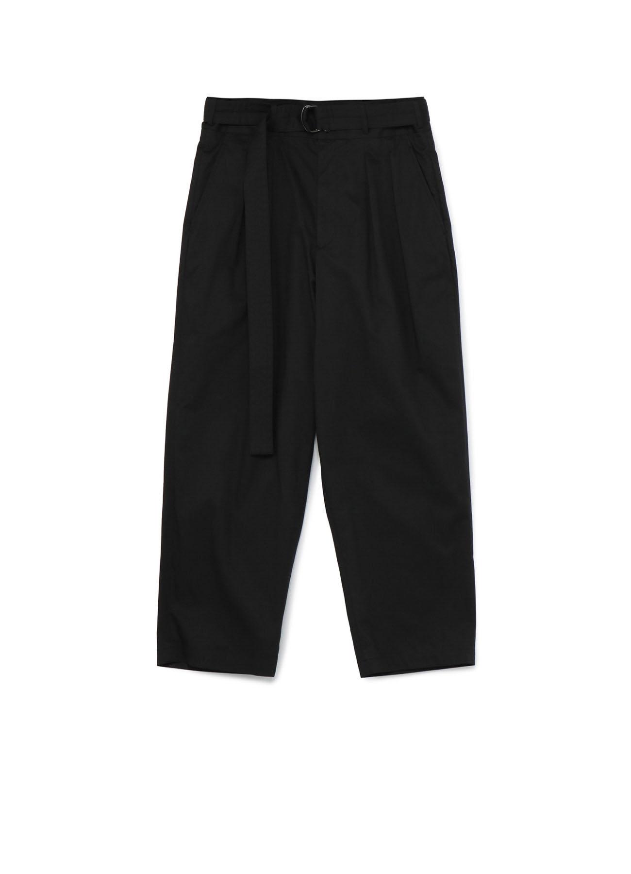 Cotton Twill 2-Tuck Tapered Belt Pants