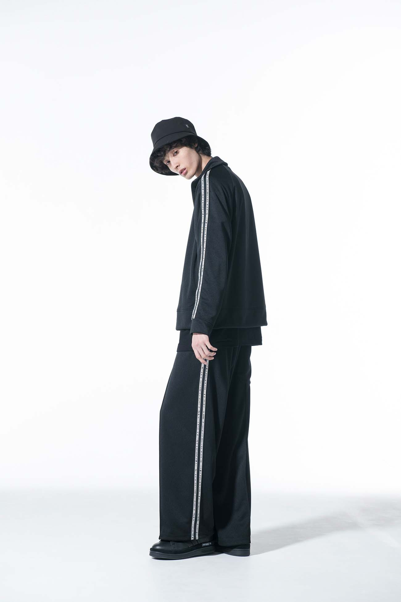 Pe/Smooth Jersey Message Side Tape Track Wide Pants
