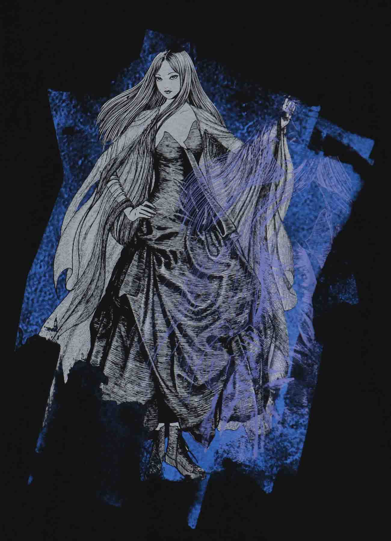 """【7/22(木) 12:00発売】""""Tomie"""" Wearing Yohji Yamamoto Tulle Dress T-shirt"""