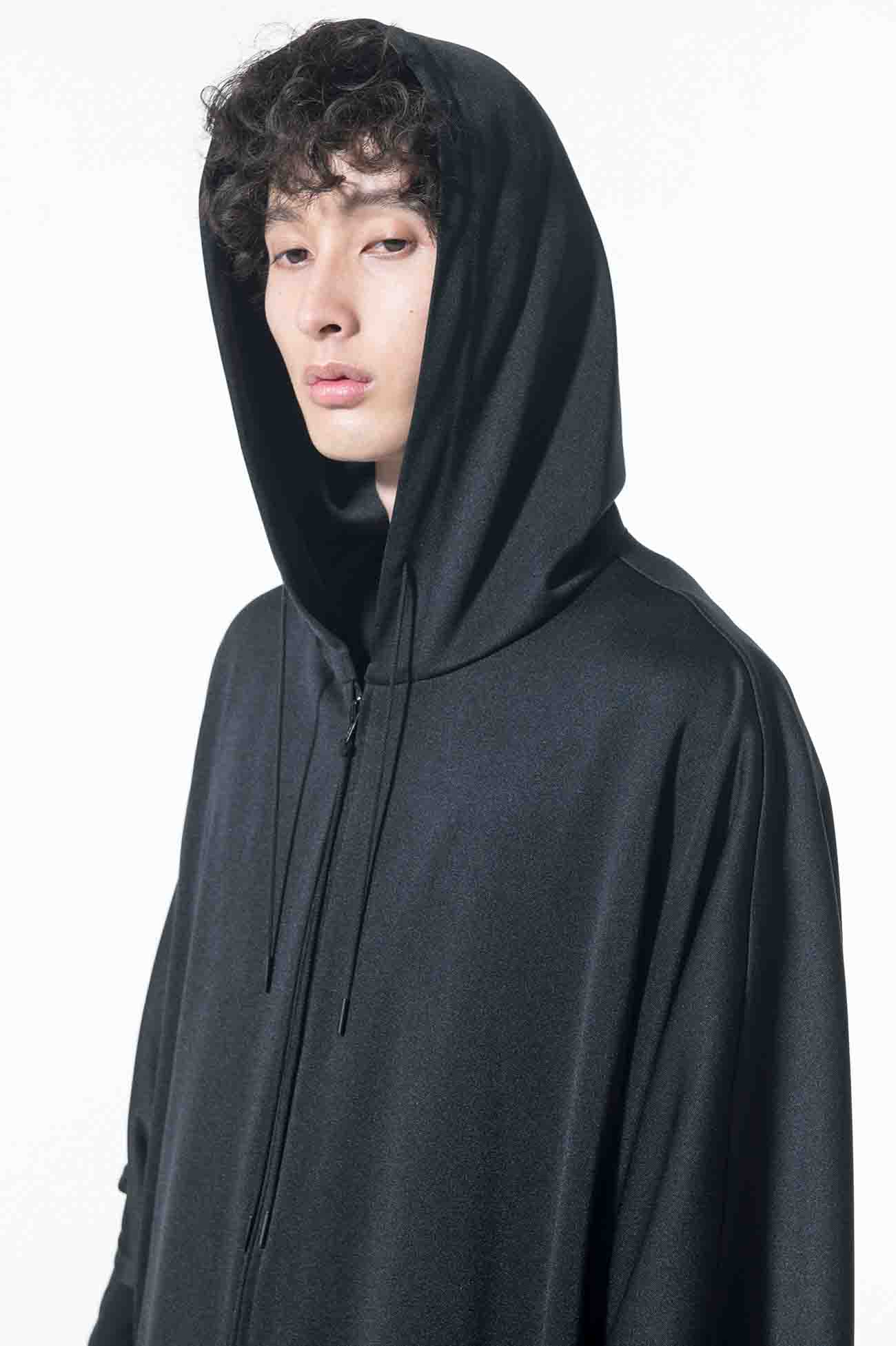 Pe/Smooth Jersey Zip Hoodie Poncho