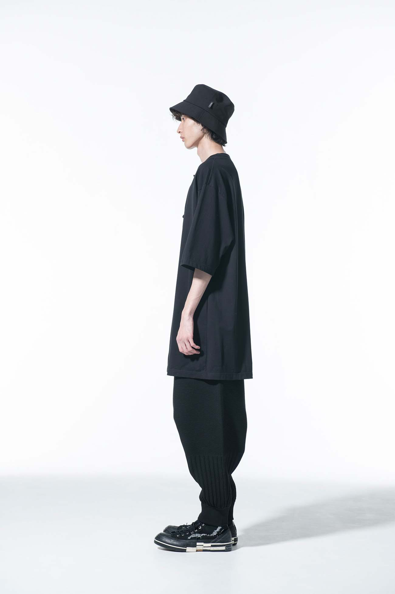 40/2 Jersey China Front notch slit big short sleeve pullover