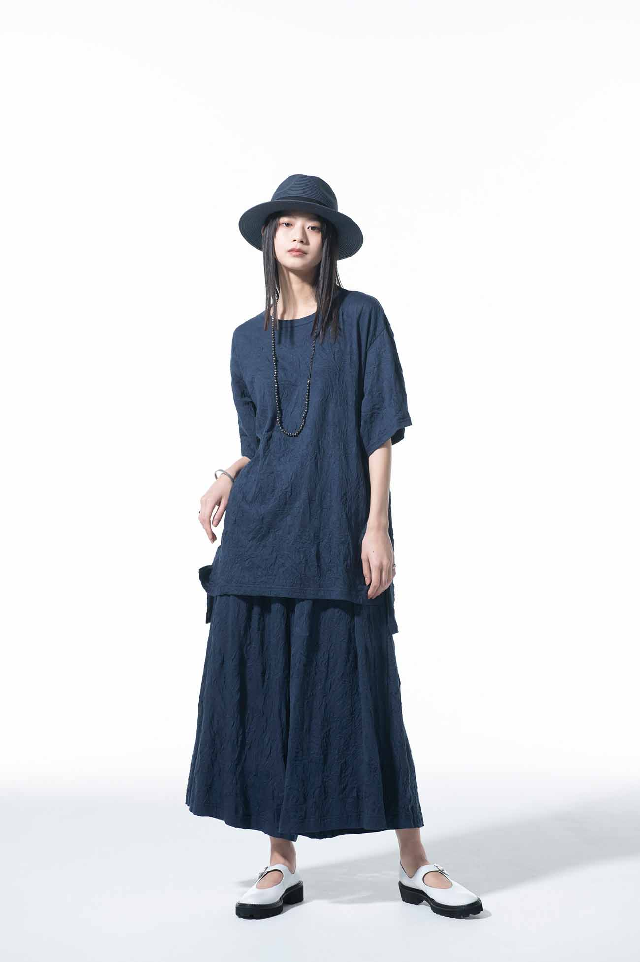 30/-T/C Jersey Catch Washer Loose-fitting Silhouette T-shirt