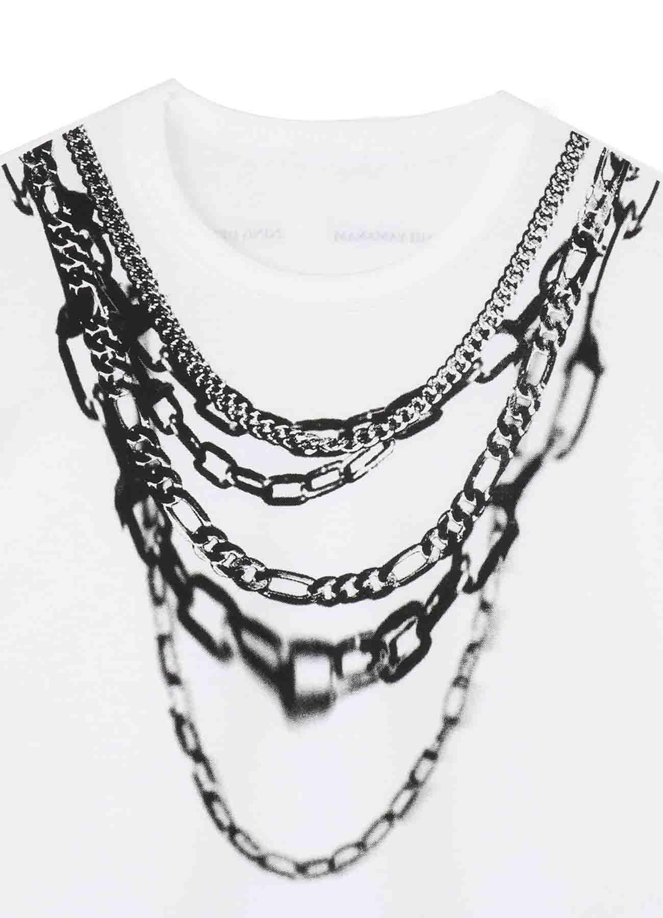 [ETY'S un Bijou] Chain Necklace Trompe-l'oeil T-shirt